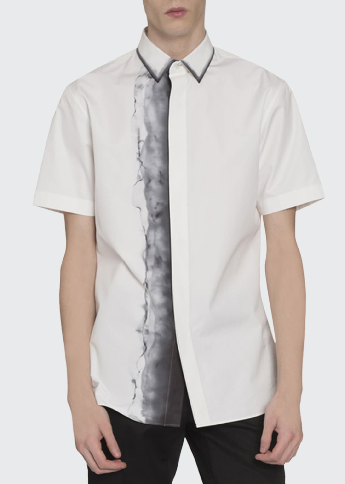 Berluti Men's Smoke-Print Short-Sleeve Sport Shirt