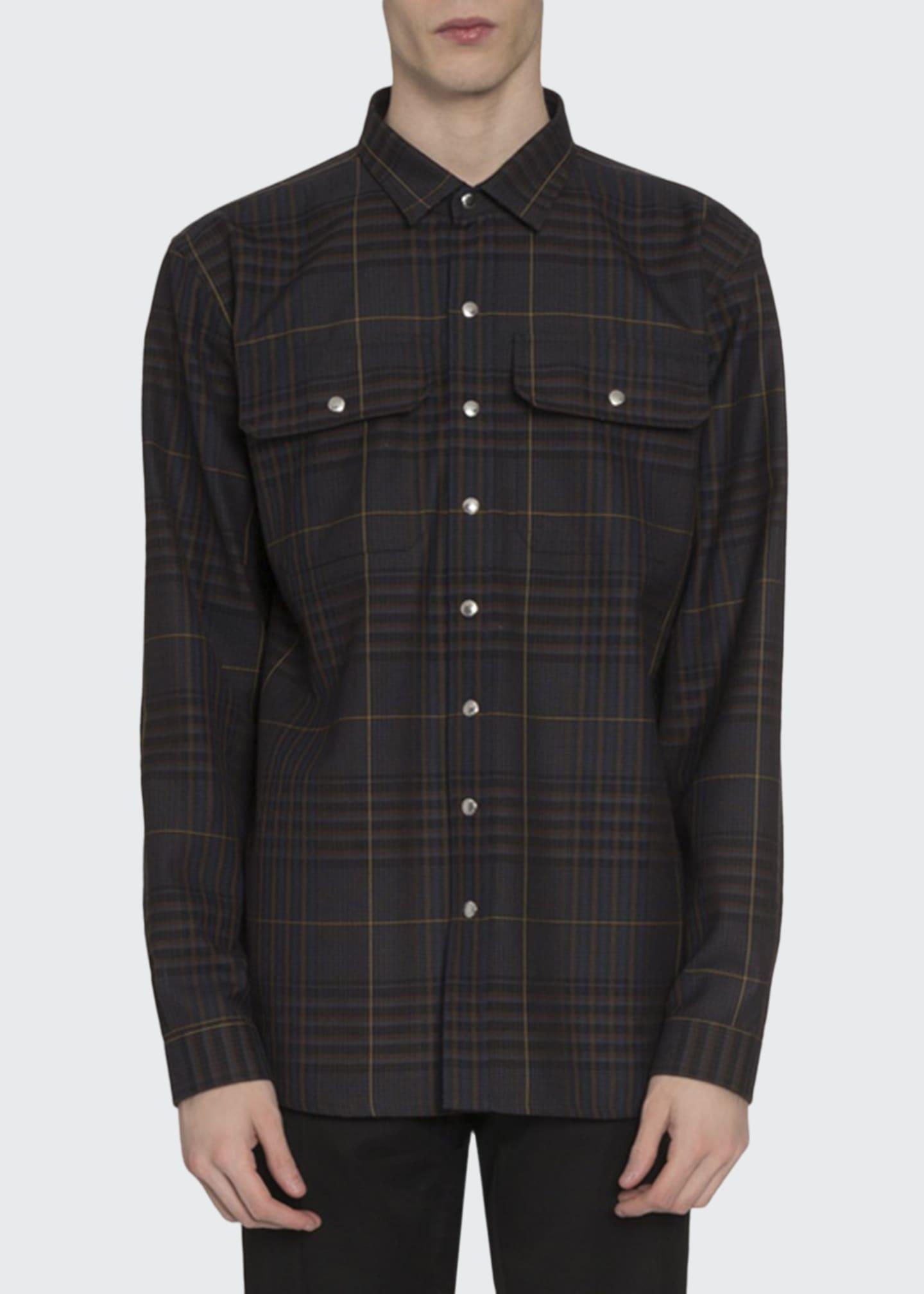Berluti Men's Plaid Shirt Jacket