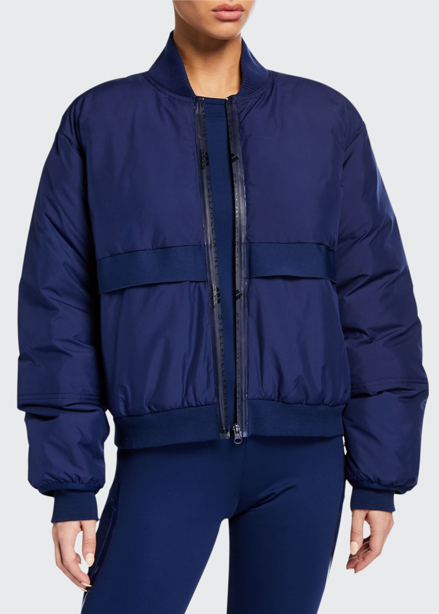 adidas by Stella McCartney Padded Zip-Front Bomber Jacket