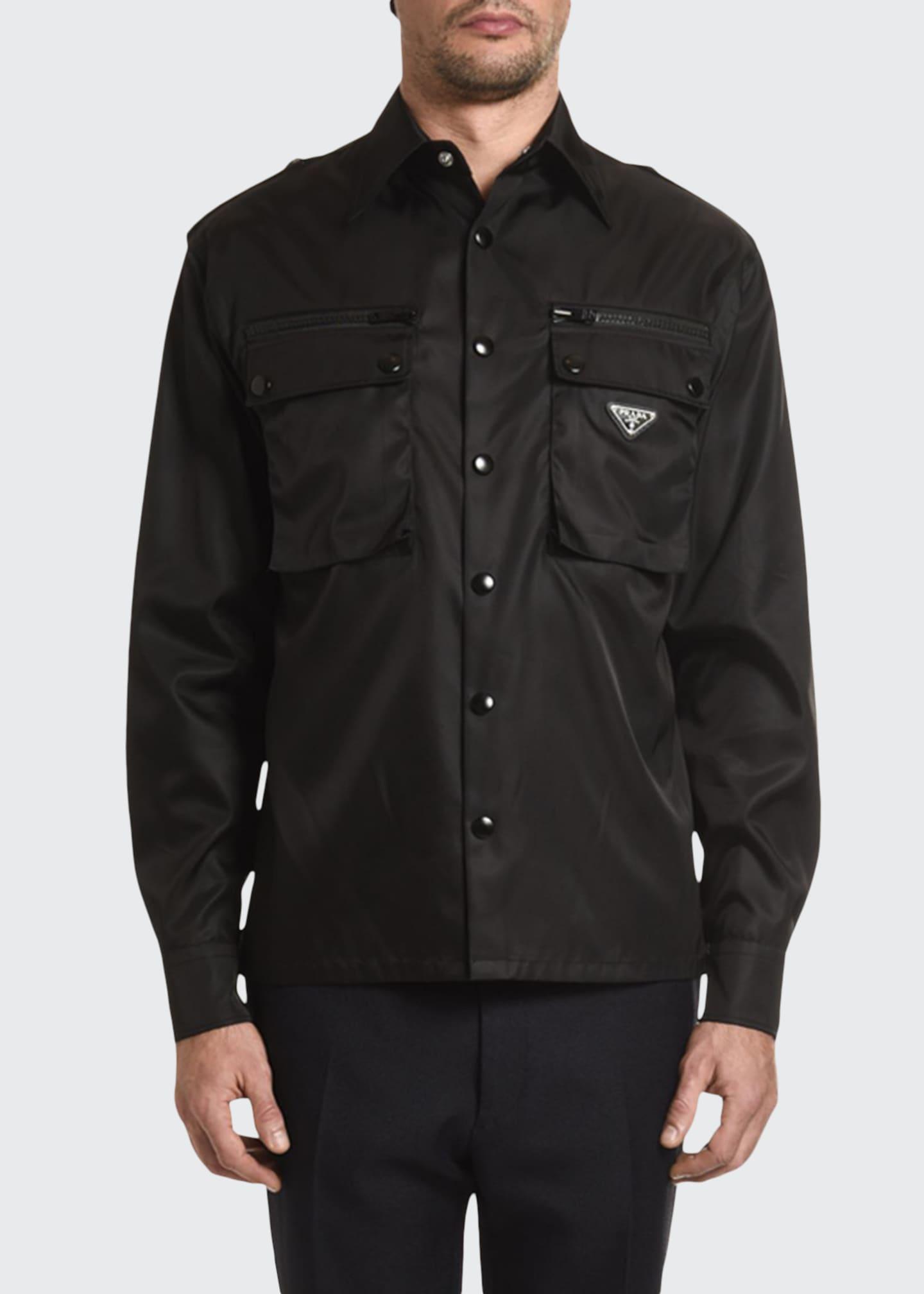 Prada Men's Nylon Gabardine Sport Shirt