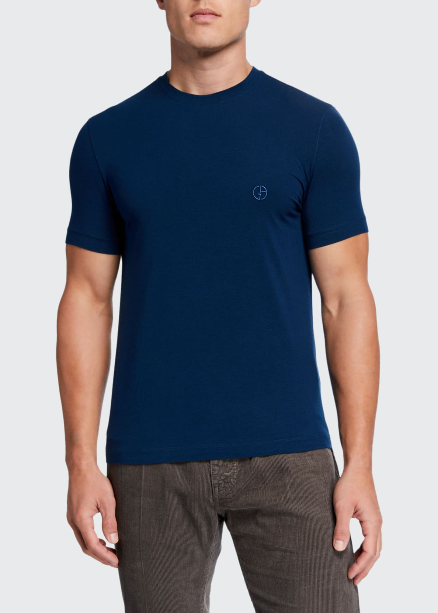 Giorgio Armani Men's Jersey-Stretch Crewneck T-Shirt