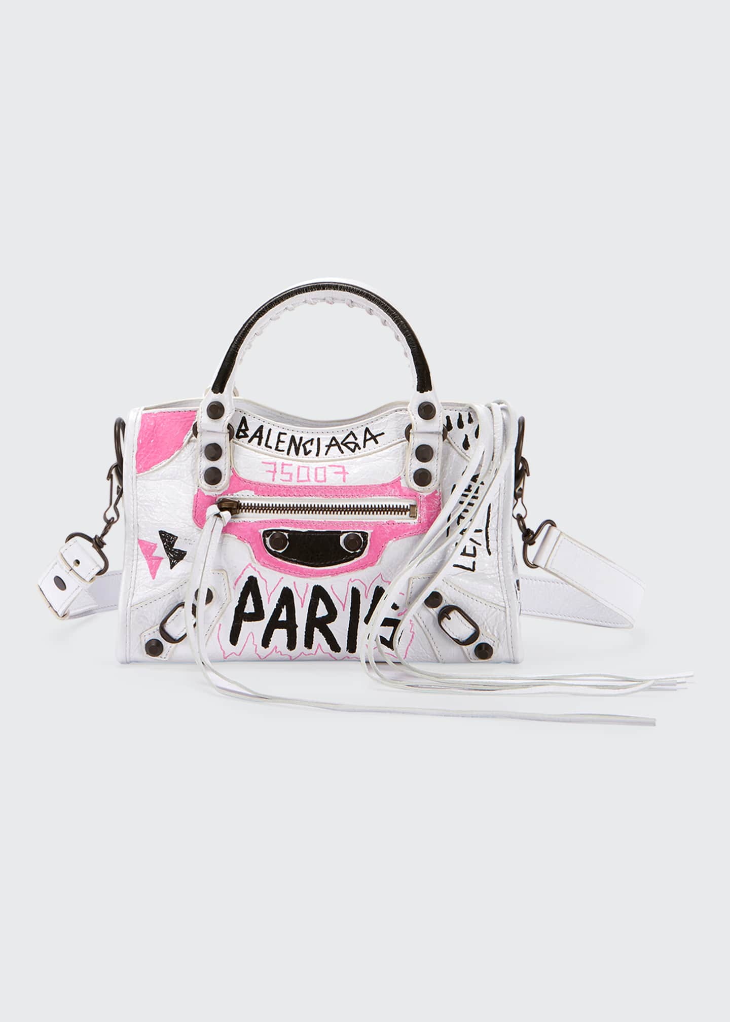 Balenciaga Classic City Mini Graffiti Satchel Bag