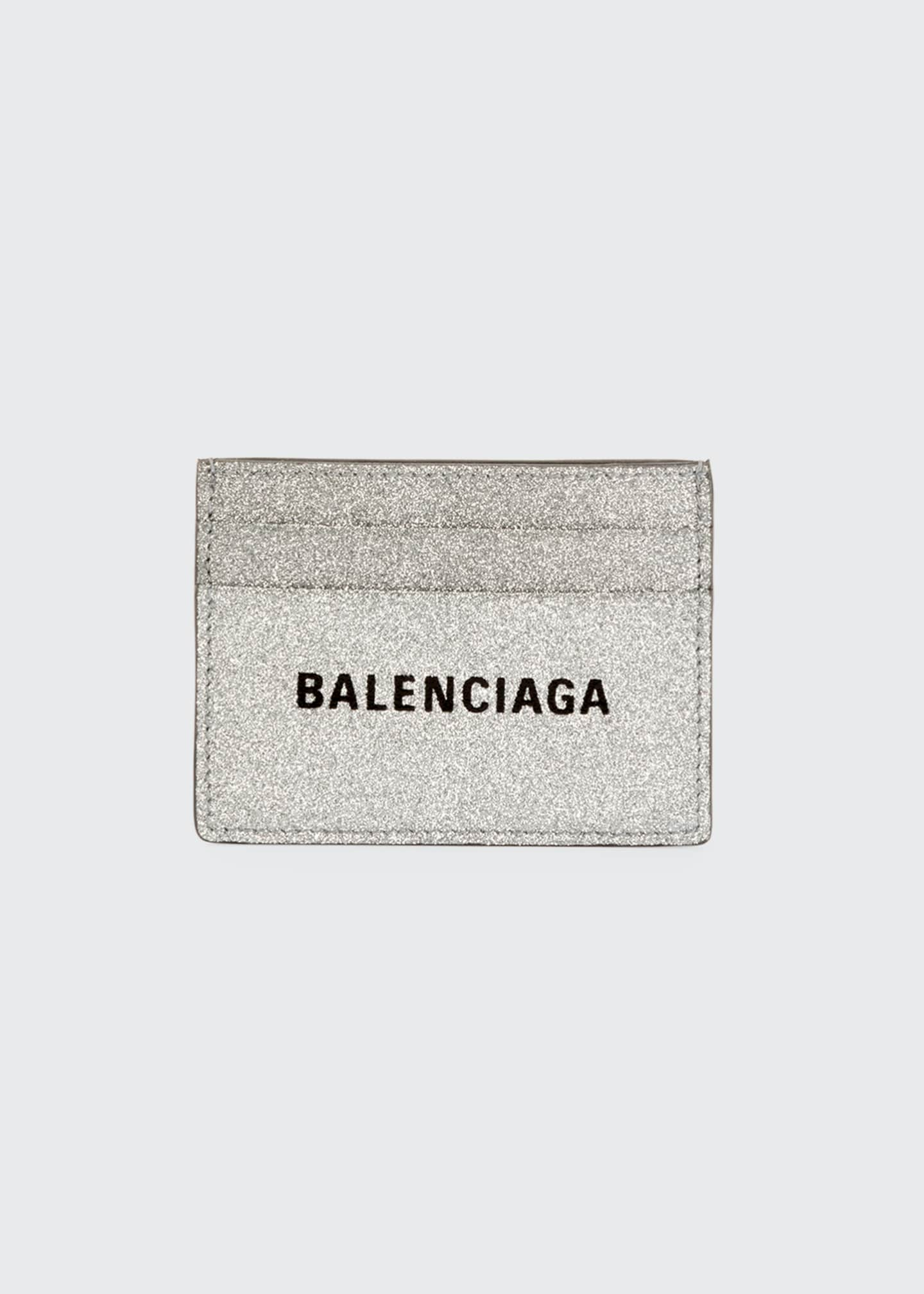 Balenciaga Everyday Large Glitter Card Case