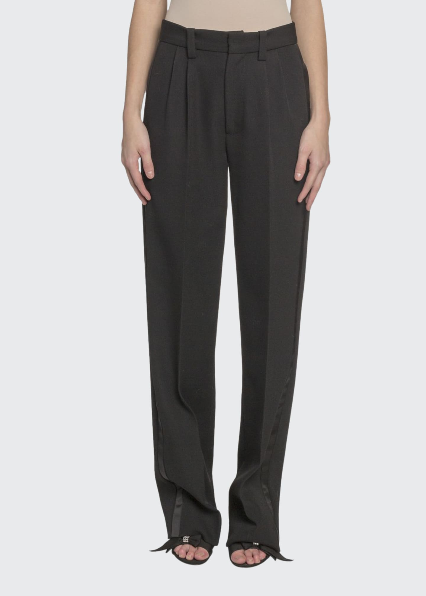 Marc Jacobs (Runway) Pleated-Front Wool Straight-Leg Pants