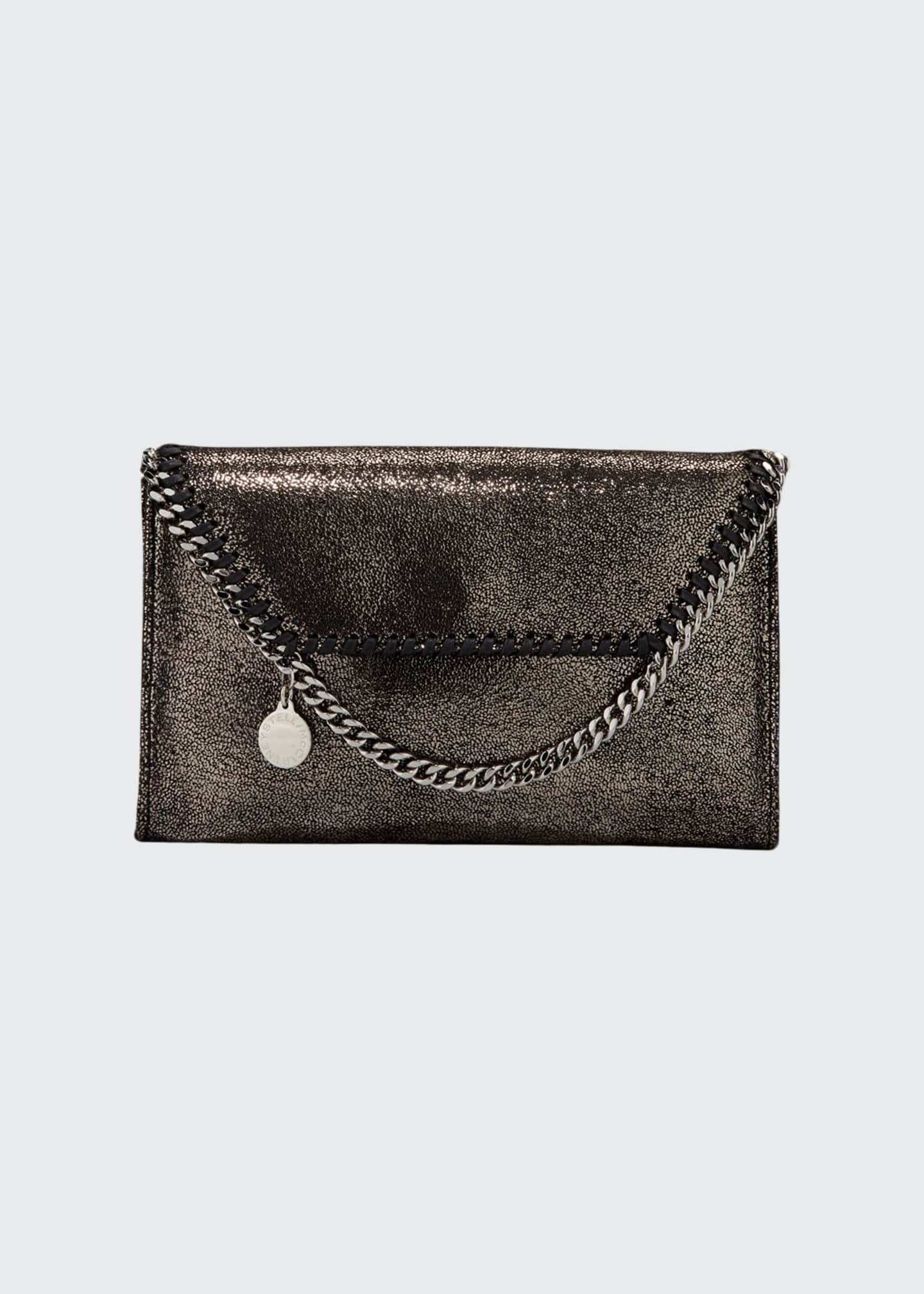 Image 1 of 3: Falabella Mini Shiny Chamois Wallet on Chain