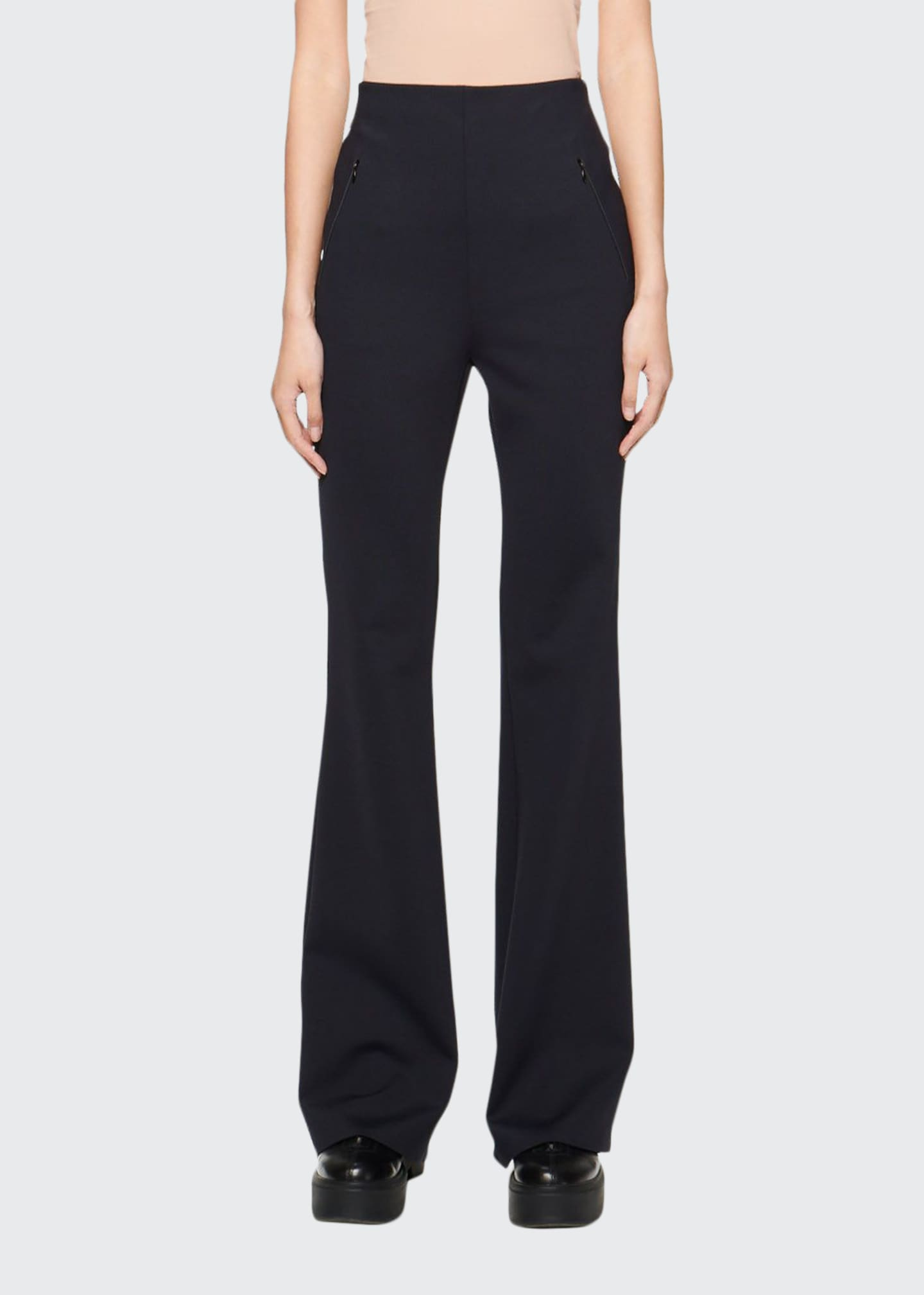 THE ROW Delon Scuba Flare-Leg Pants