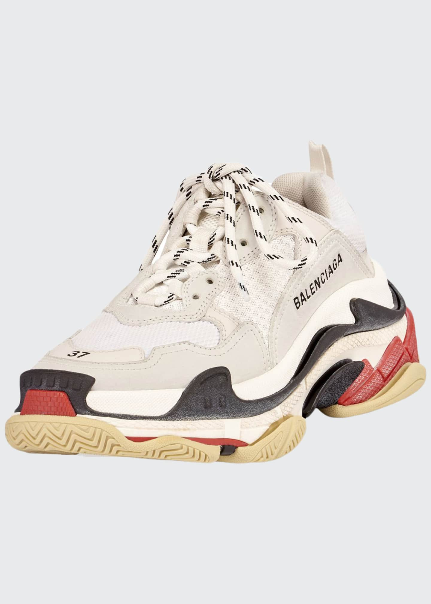 Balenciaga Triple S Mesh & Leather Trainer Sneakers