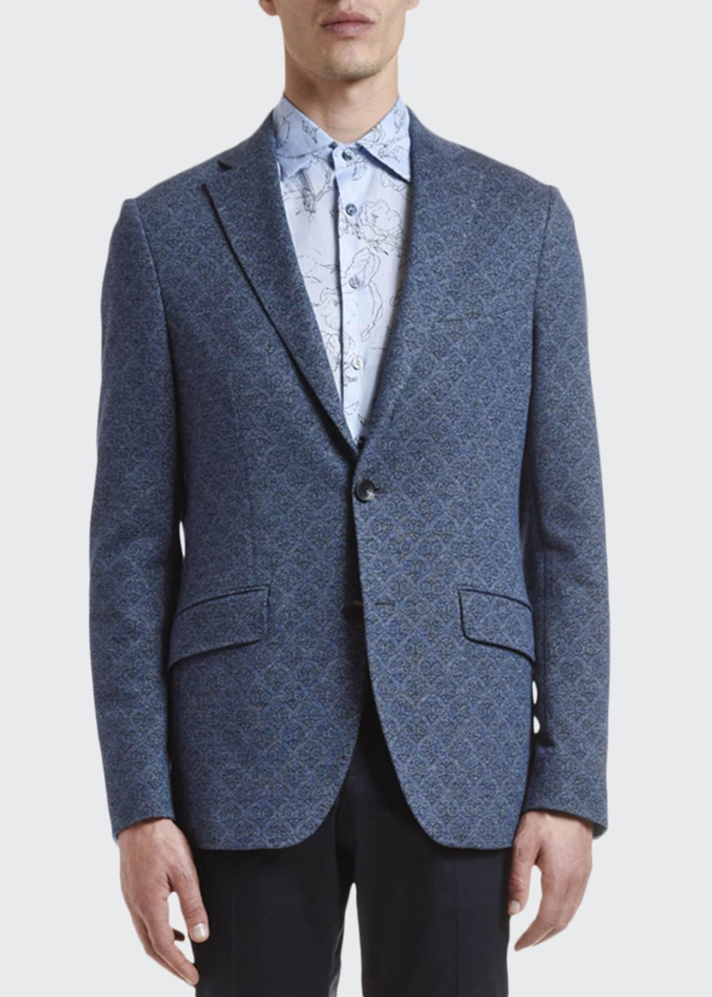 Etro Men's Cotton/Wool Jacquard Sport Coat