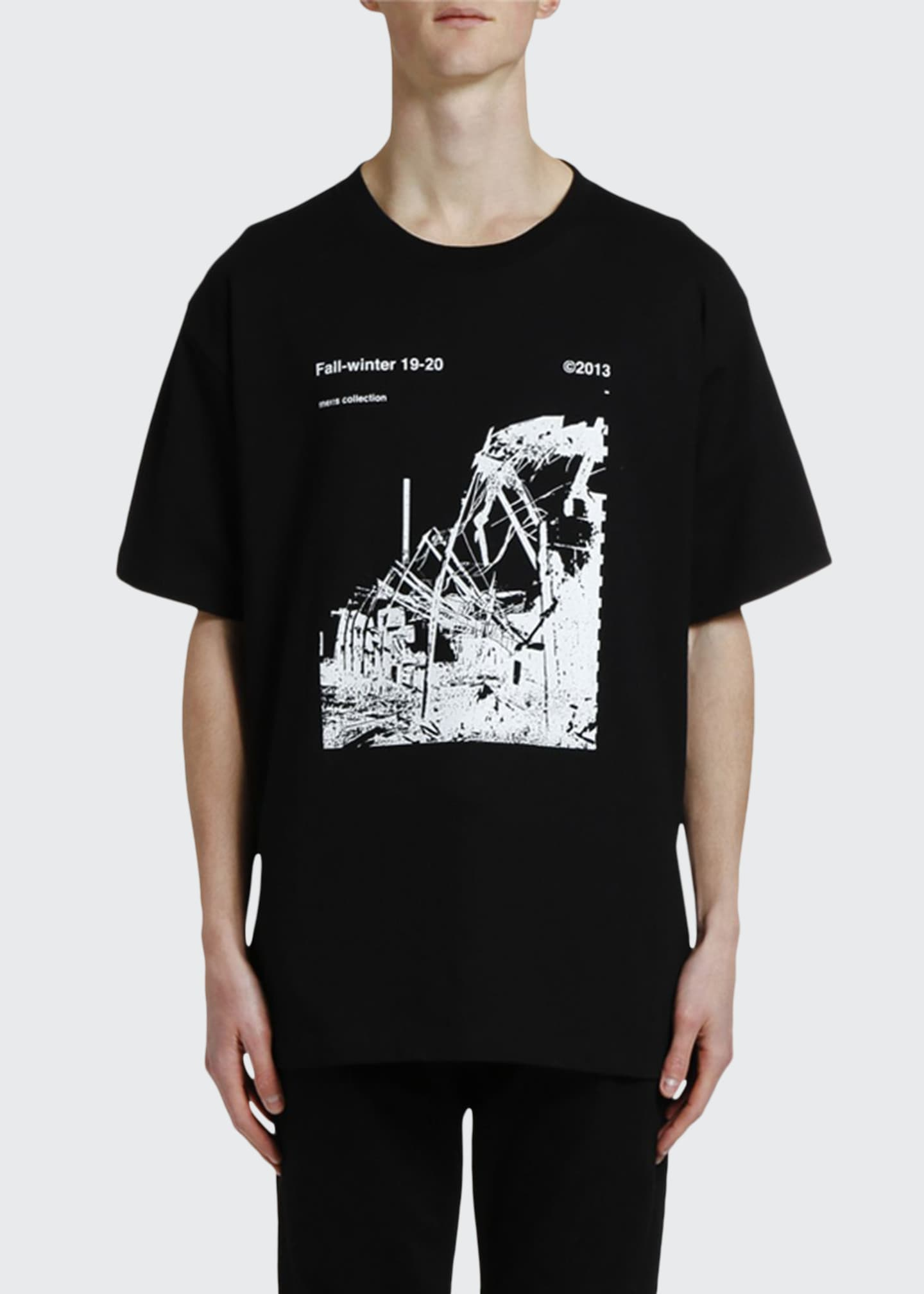 Off-White Men's Ruined Factory Oversized Graphic T-Shirt
