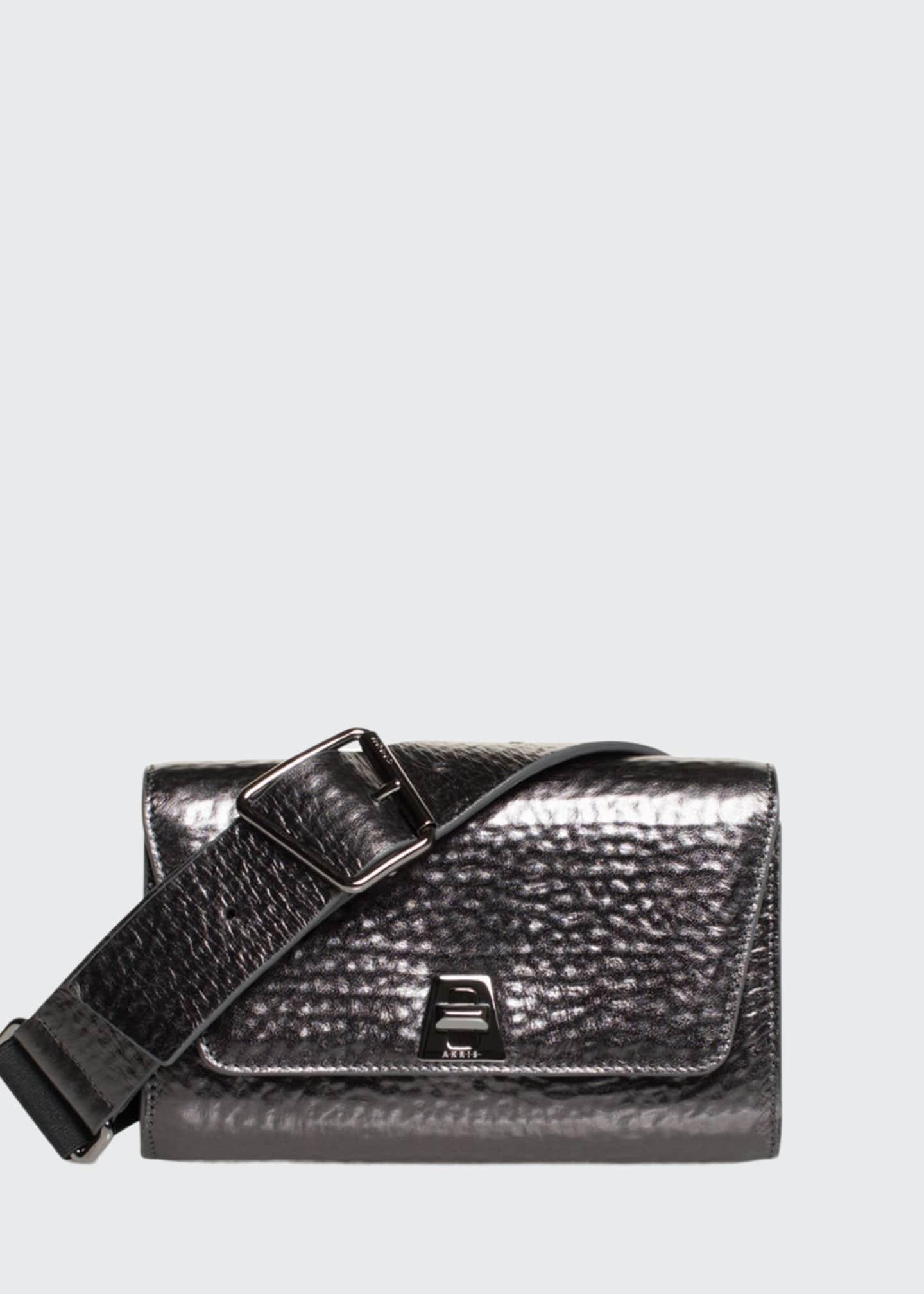 Akris Anouk Hammered Leather Belt Bag