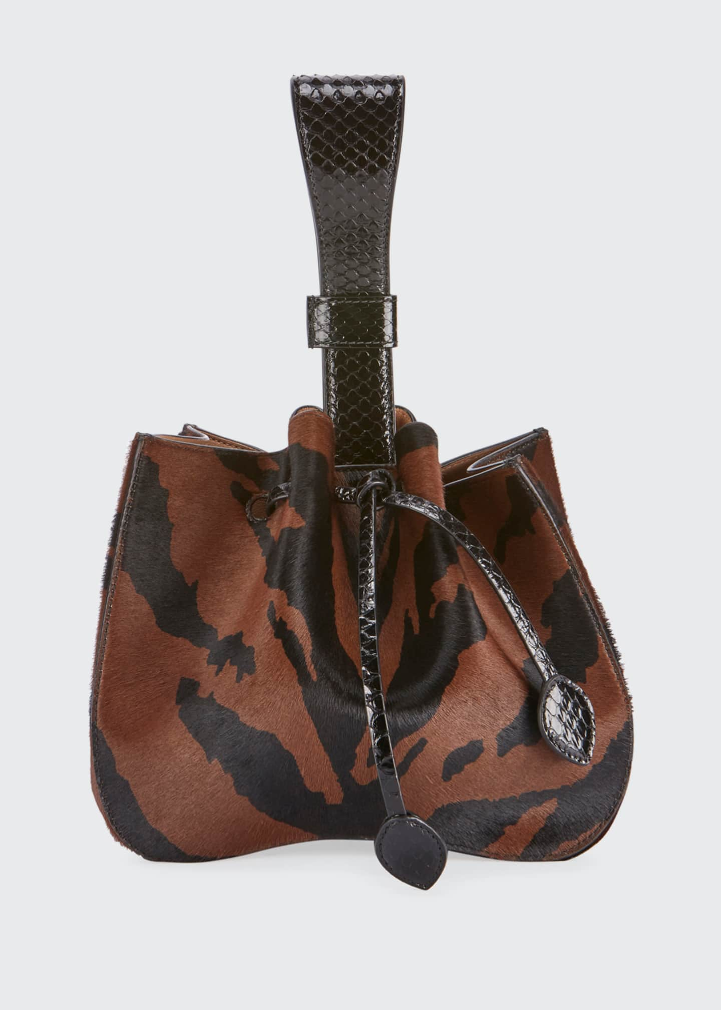 ALAIA Rose Marie Poulain Zebra-Print Bucket Bag