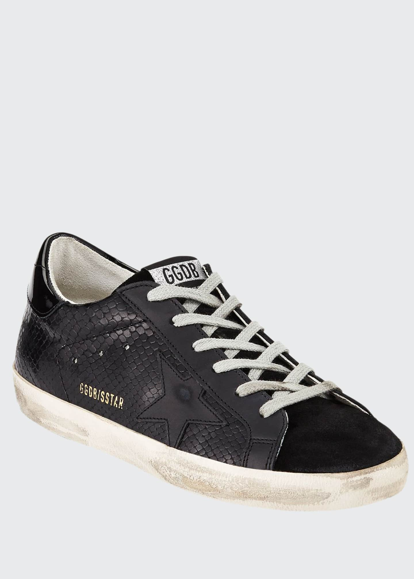 Image 1 of 3: Superstar Tonal Leather Sneakers