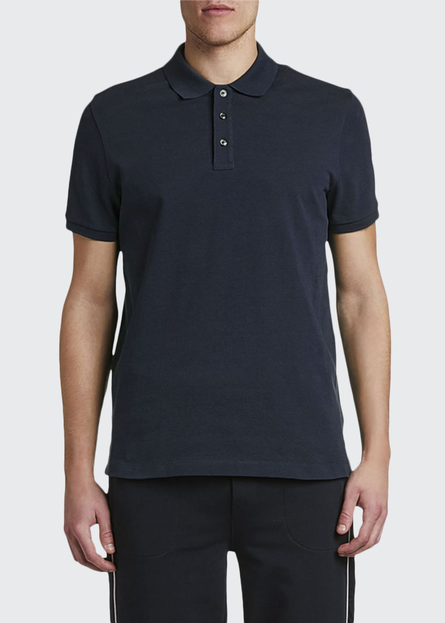 Moncler Men's Classic Solid Polo Shirt