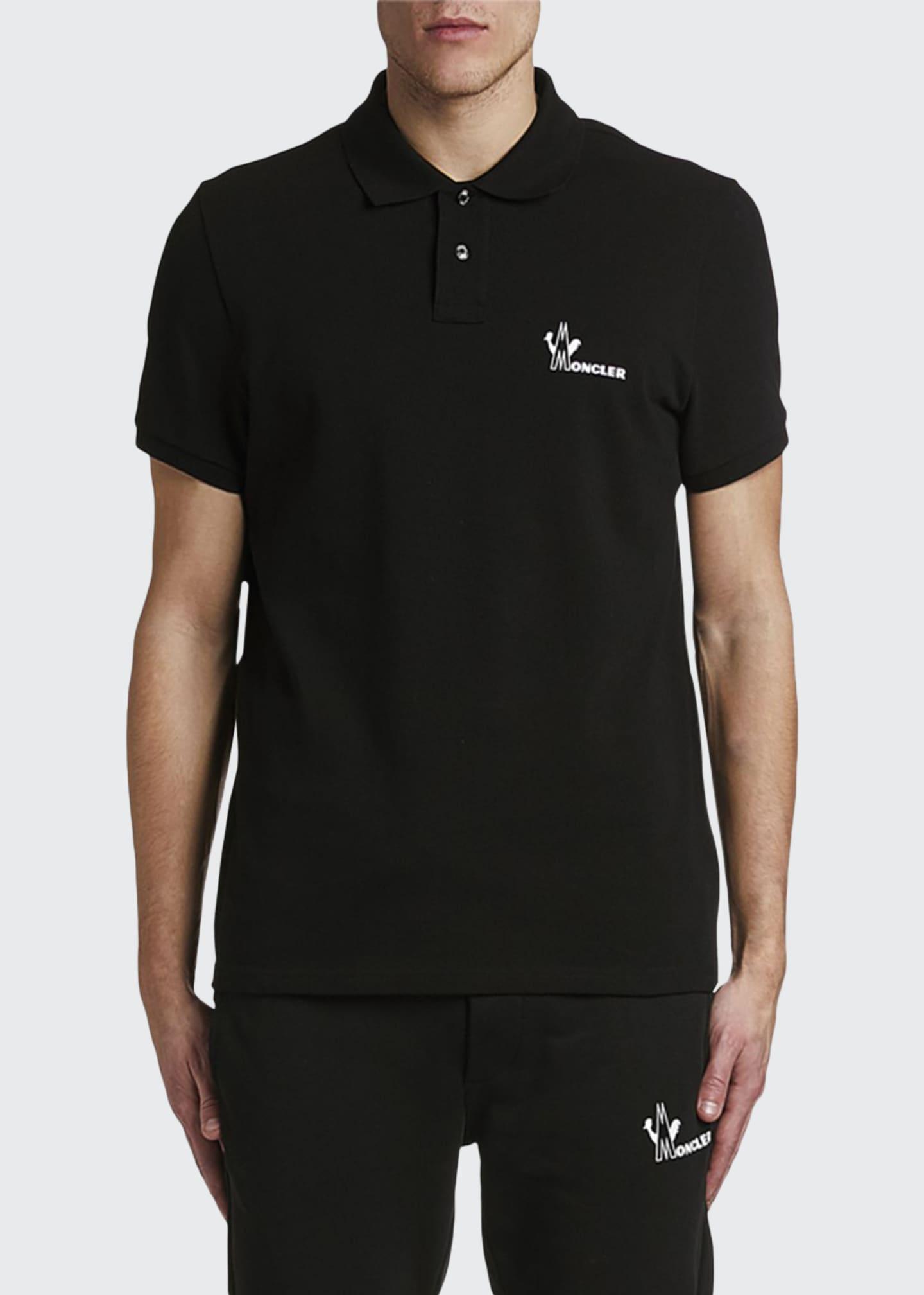 Moncler Men's Solid Logo Polo Shirt