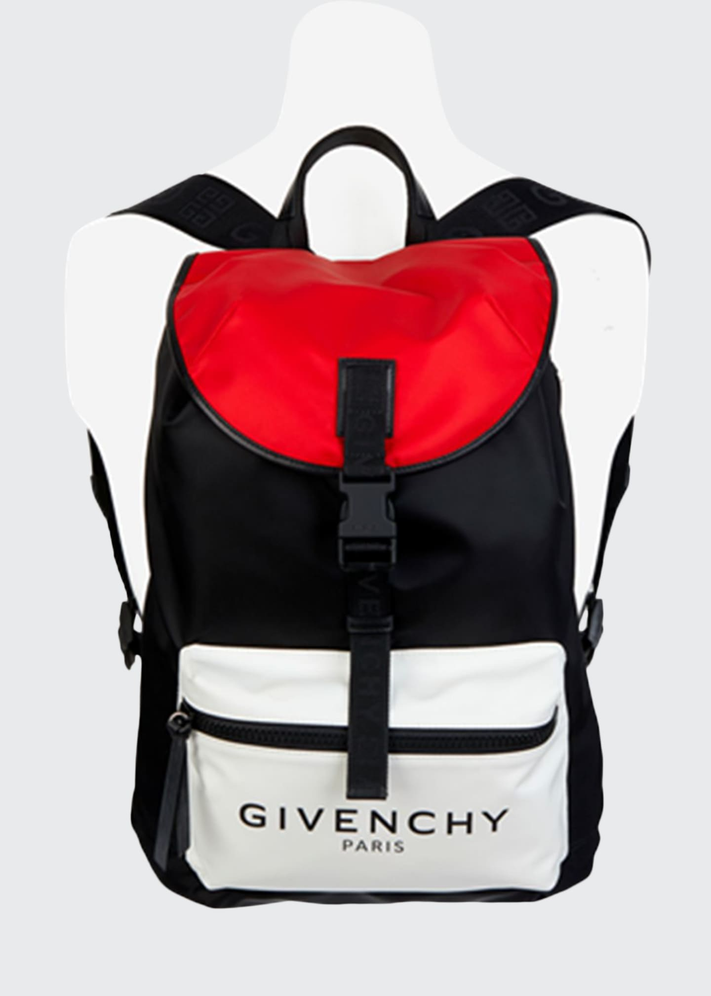 Givenchy Men's Light 3 Colorblock Nylon Backpack
