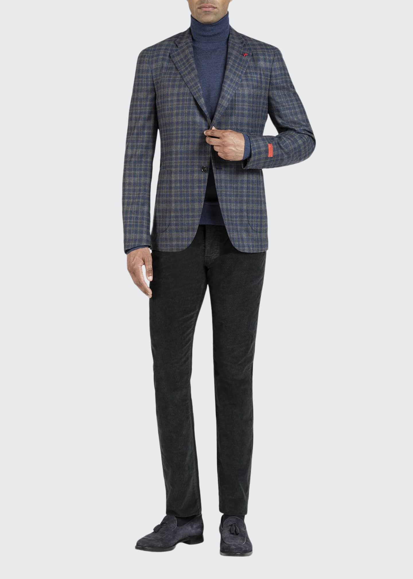 Image 1 of 5: Men's Wool-Blend Check Sport Jacket