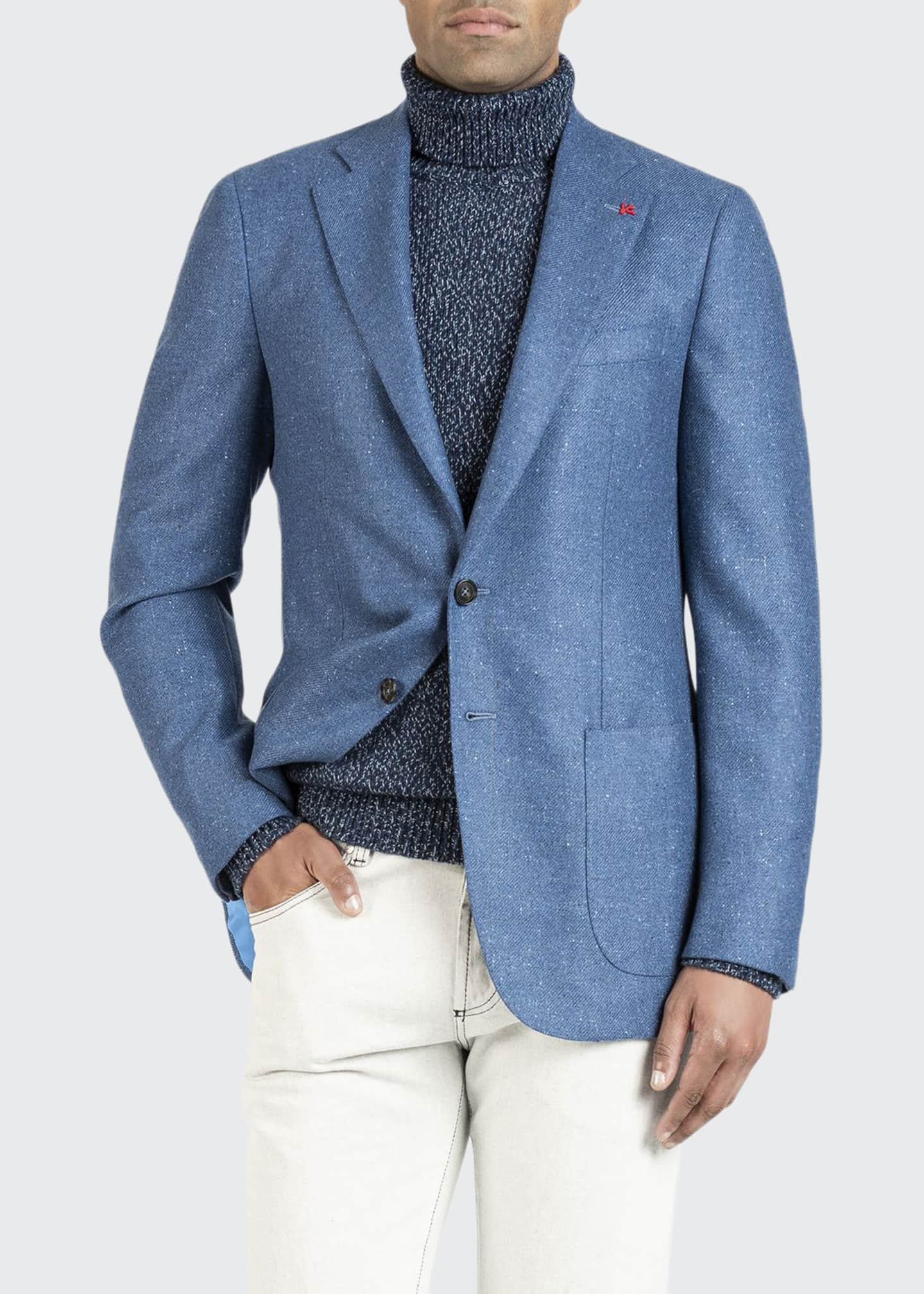 Image 1 of 5: Men's Donegal Cashmere Two-Button Jacket