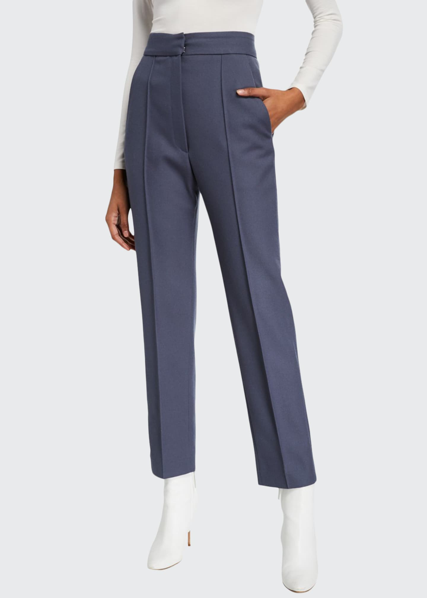 Boon The Shop Wool-Blend Straight-Leg Pants