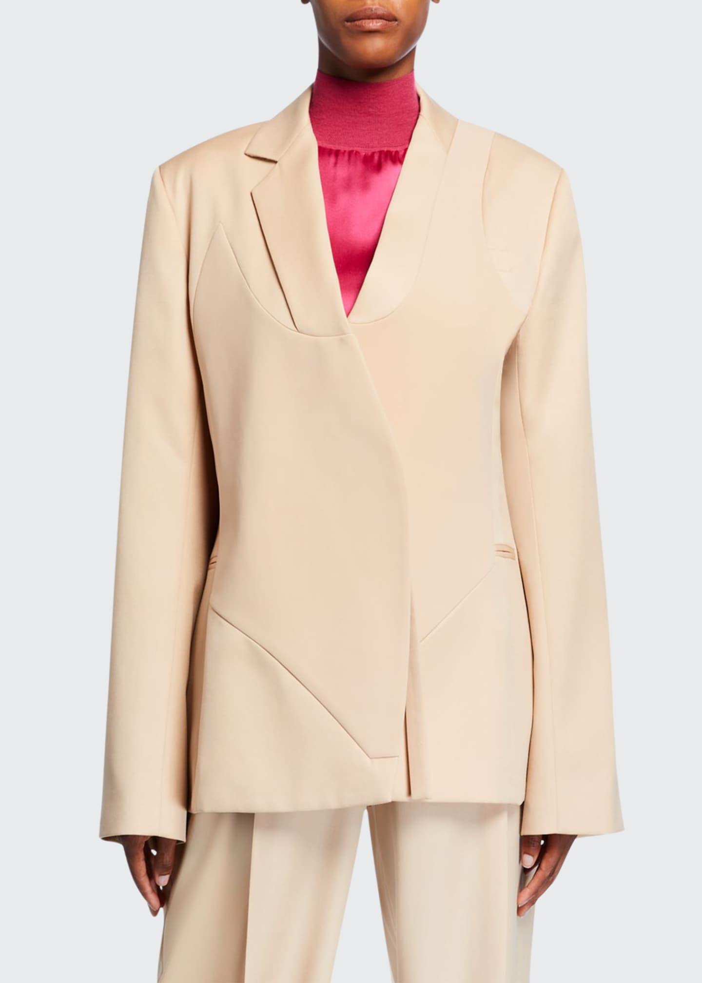 Nina Ricci Seamed-Front Wool Blazer
