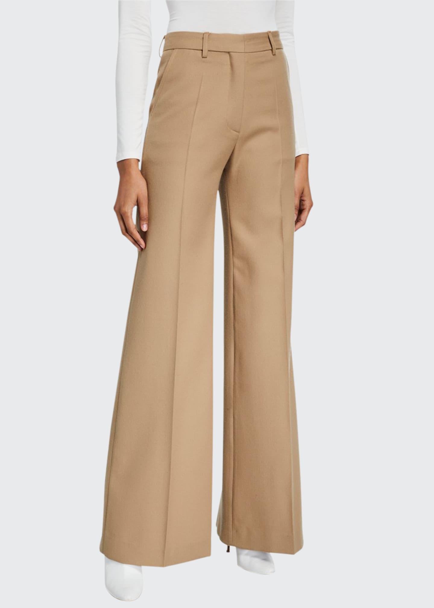 Boon The Shop Wool-Blend Flare-Leg Pants