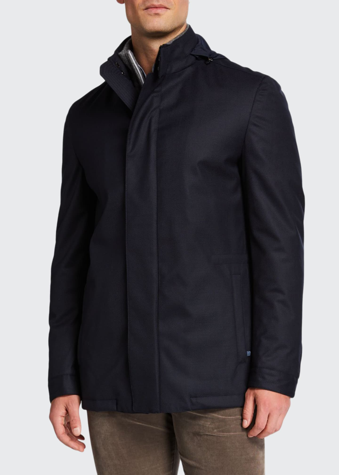 Image 1 of 4: Men's Technical Twill Car Coat