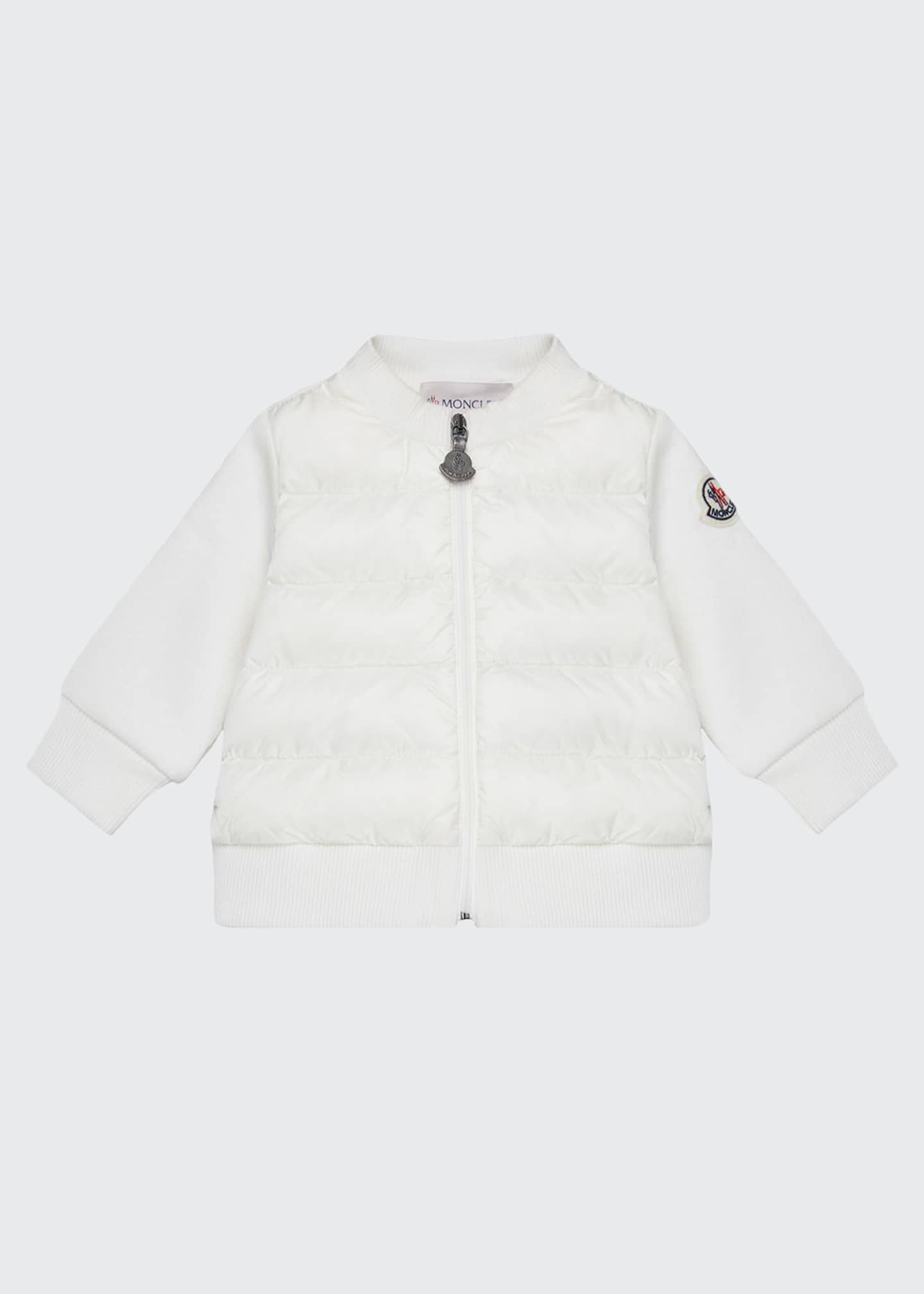 Moncler Maglia Jersey Quilted Body Cardigan, Size 12M-3