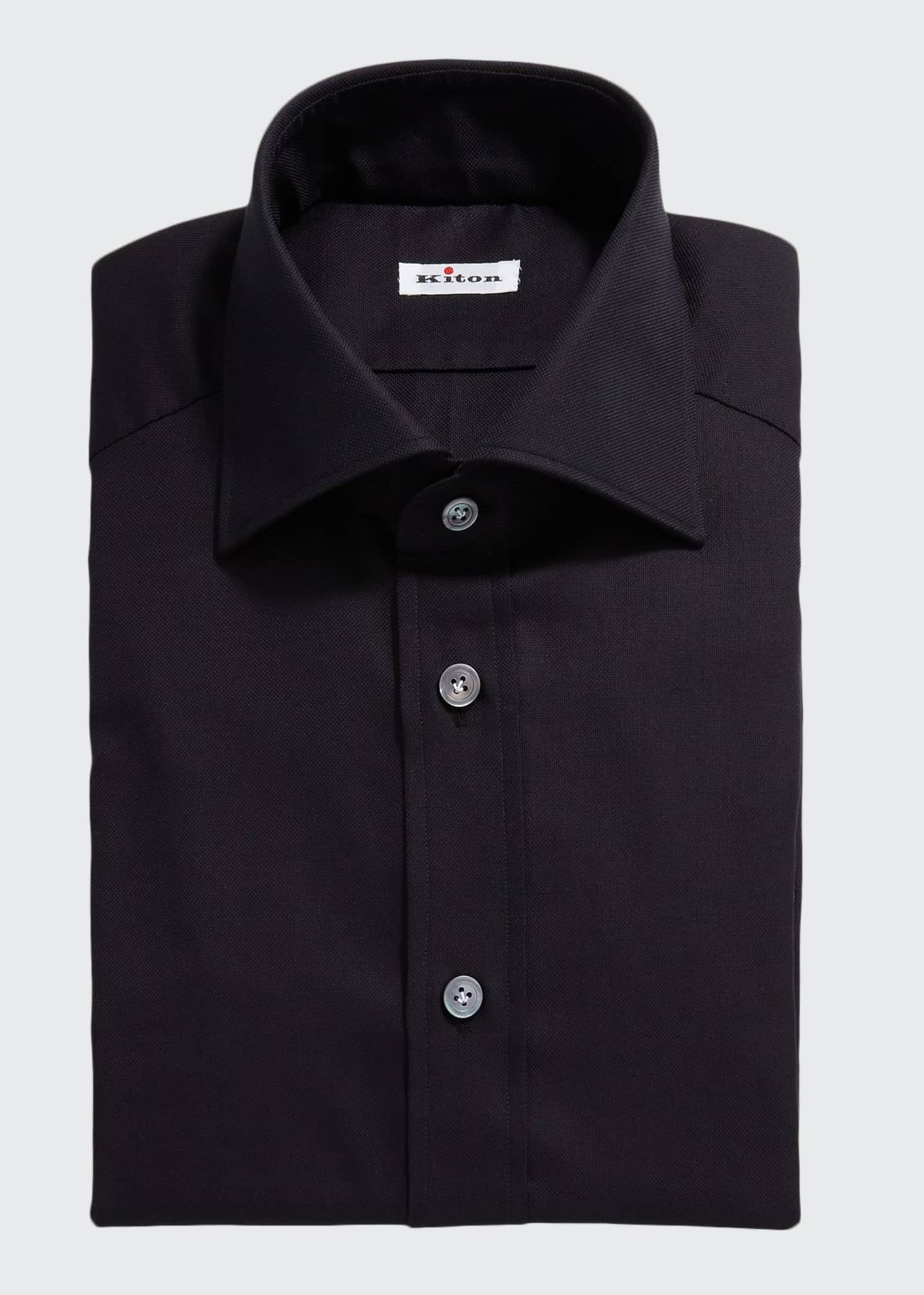 Kiton Men's Solid Oxford Dress Shirt