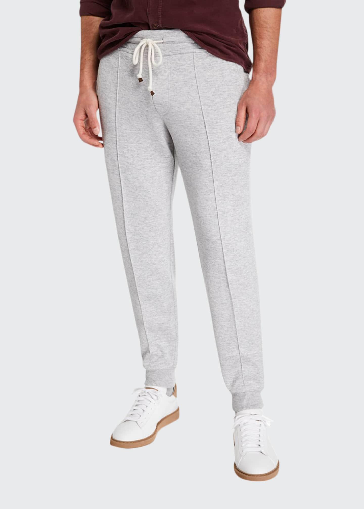 Brunello Cucinelli Men's Cashmere-Blend Spa Jogger Pants