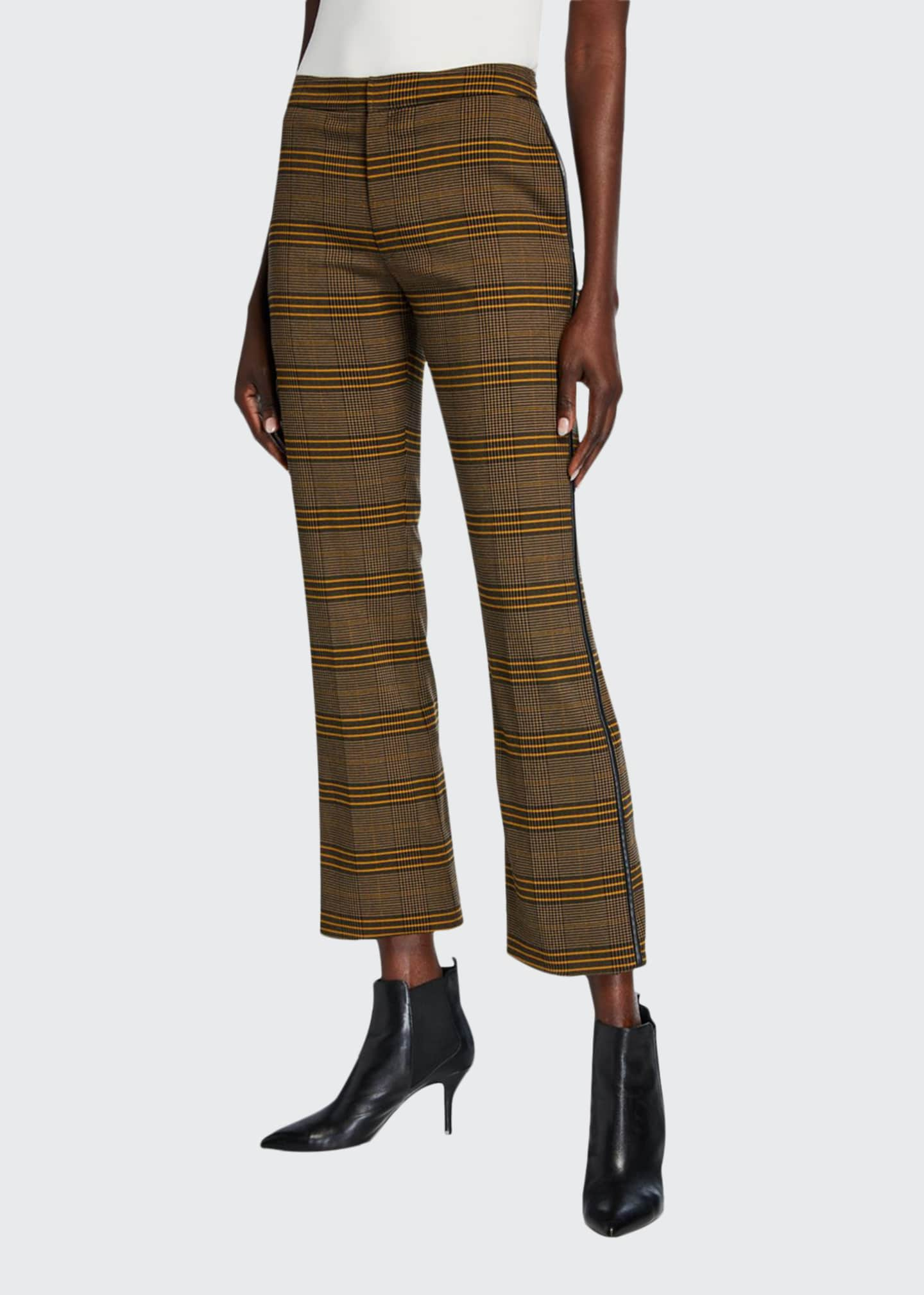 ADEAM Plaid Cropped Cigarette Pants