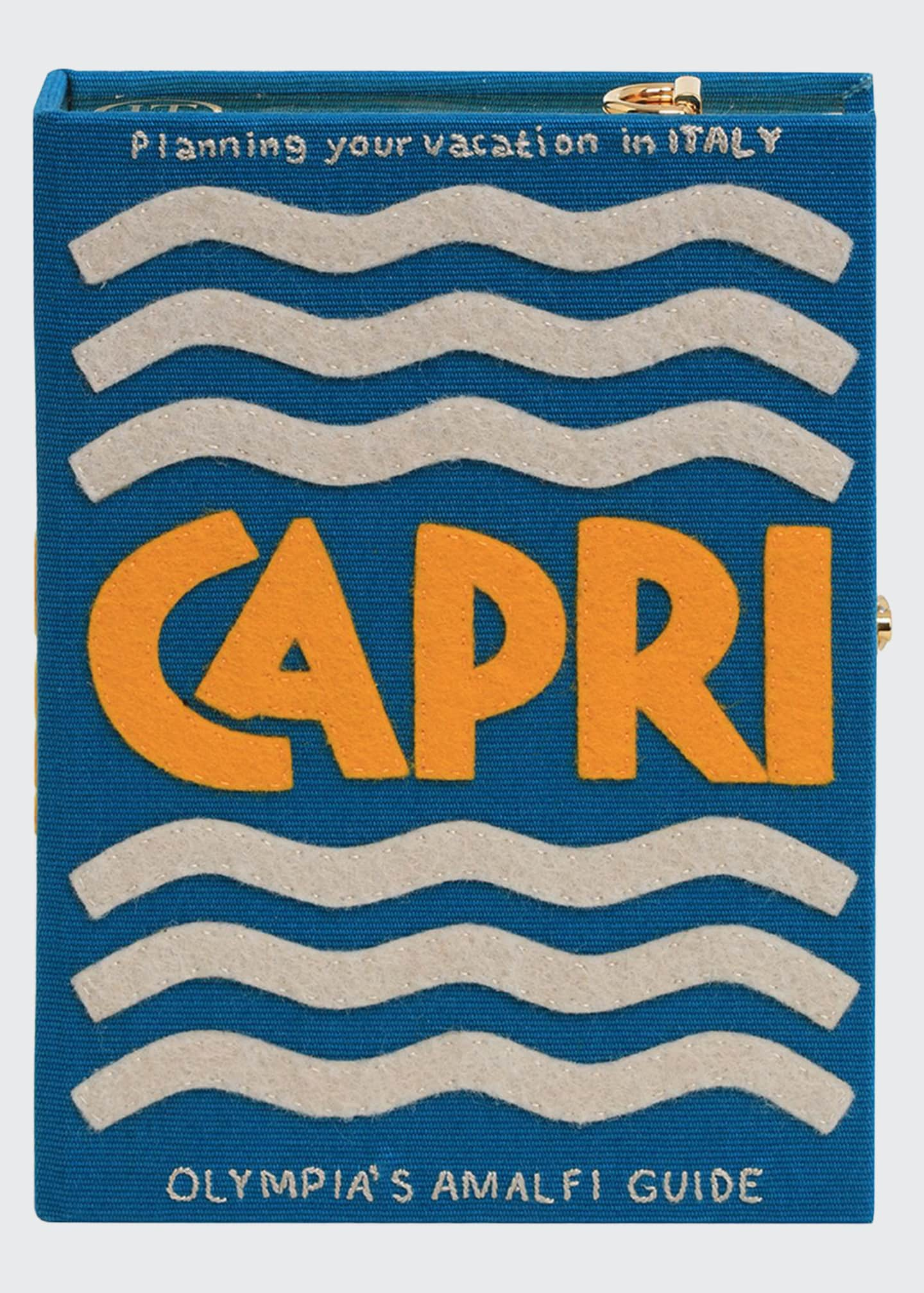 Olympia Le-Tan Capri Strapped Book Clutch Bag