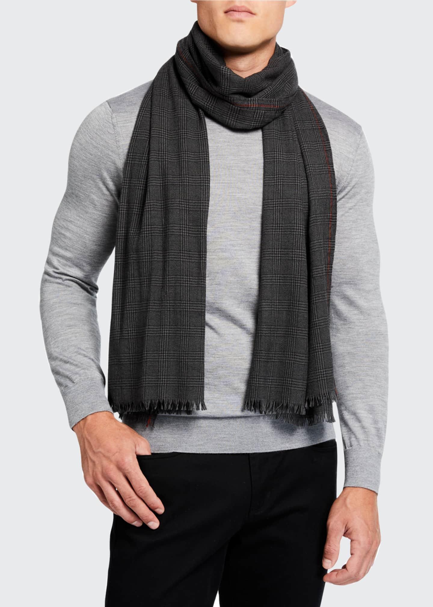 Loro Piana Men's Aberdeen Wool Scarf