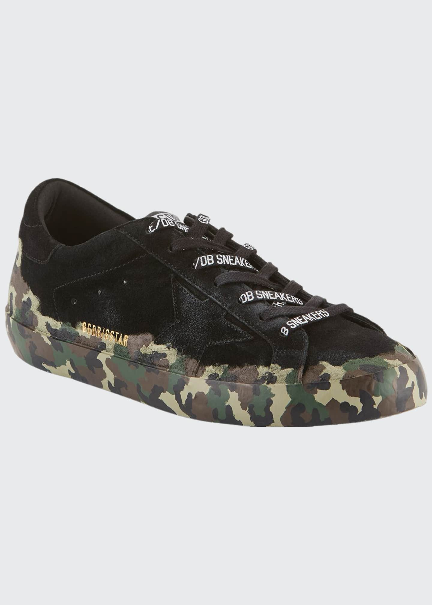 Golden Goose Men's Superstar Camo-Coated Suede Sneakers