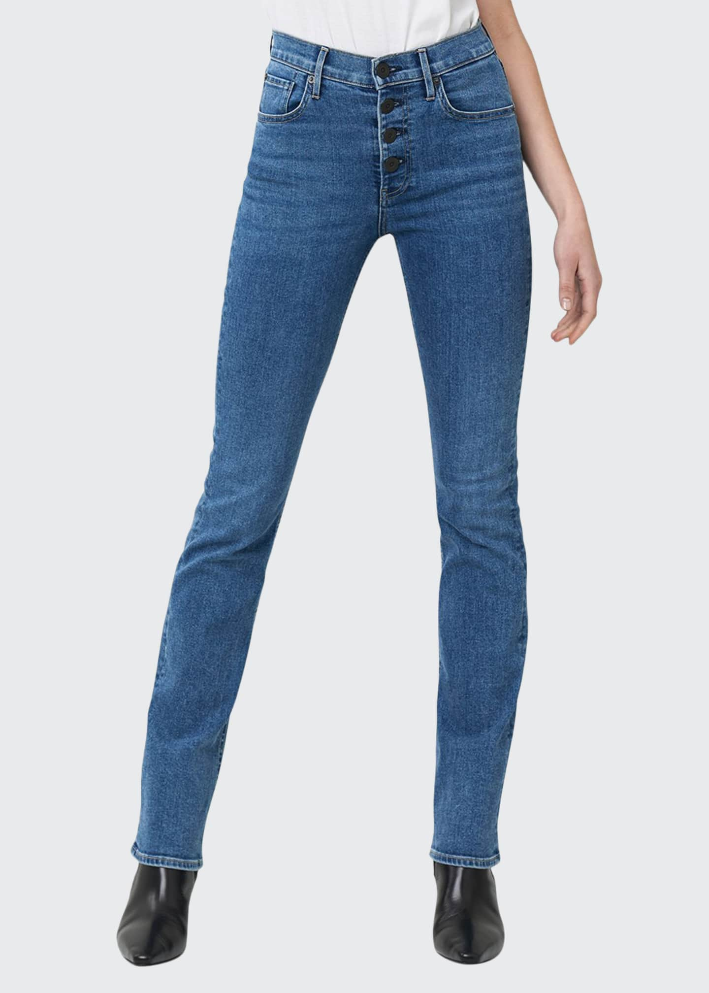 3x1 Poppy Slim Boot-Cut Jeans with Button Fly