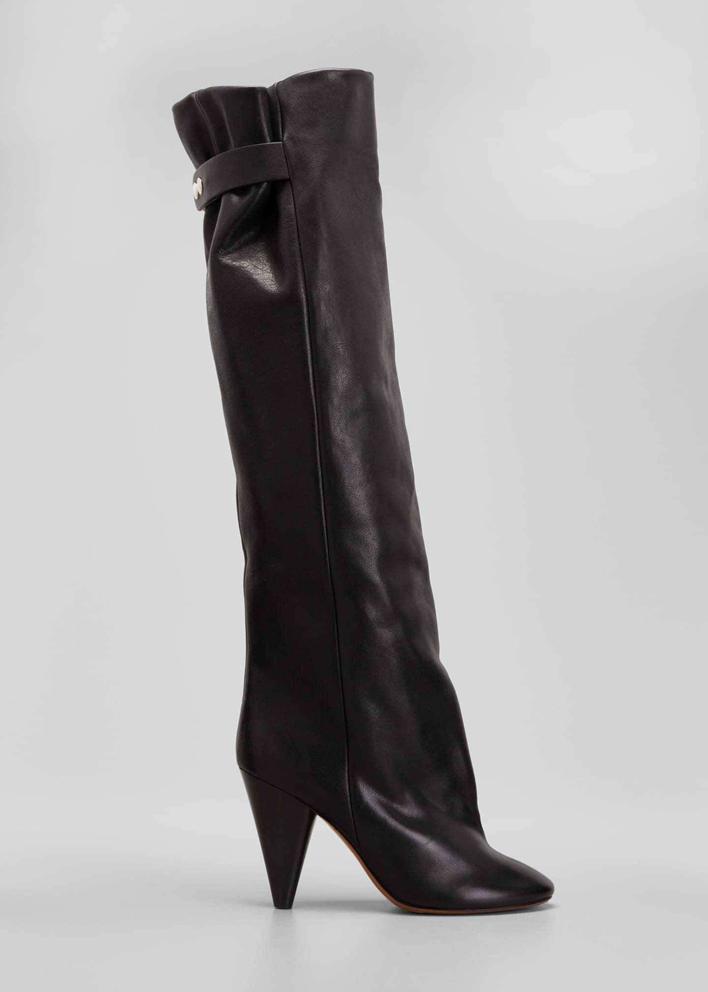 Isabel Marant Lacine 90mm Leather Knee Boots