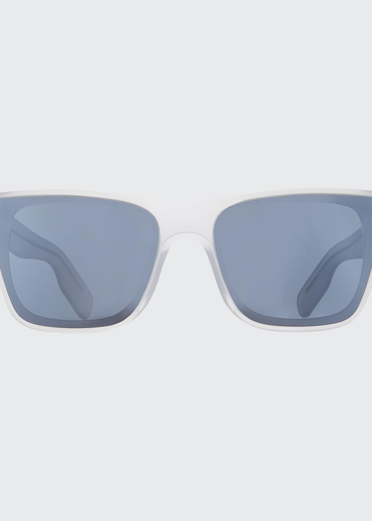 Kenzo Men's Transparent Square Sunglasses