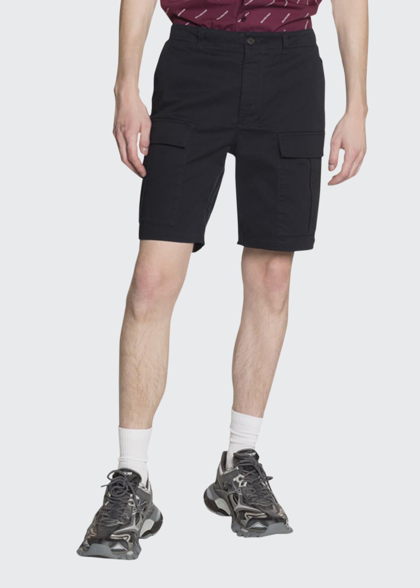 Balenciaga Men's Cotton-Twill Cargo Shorts