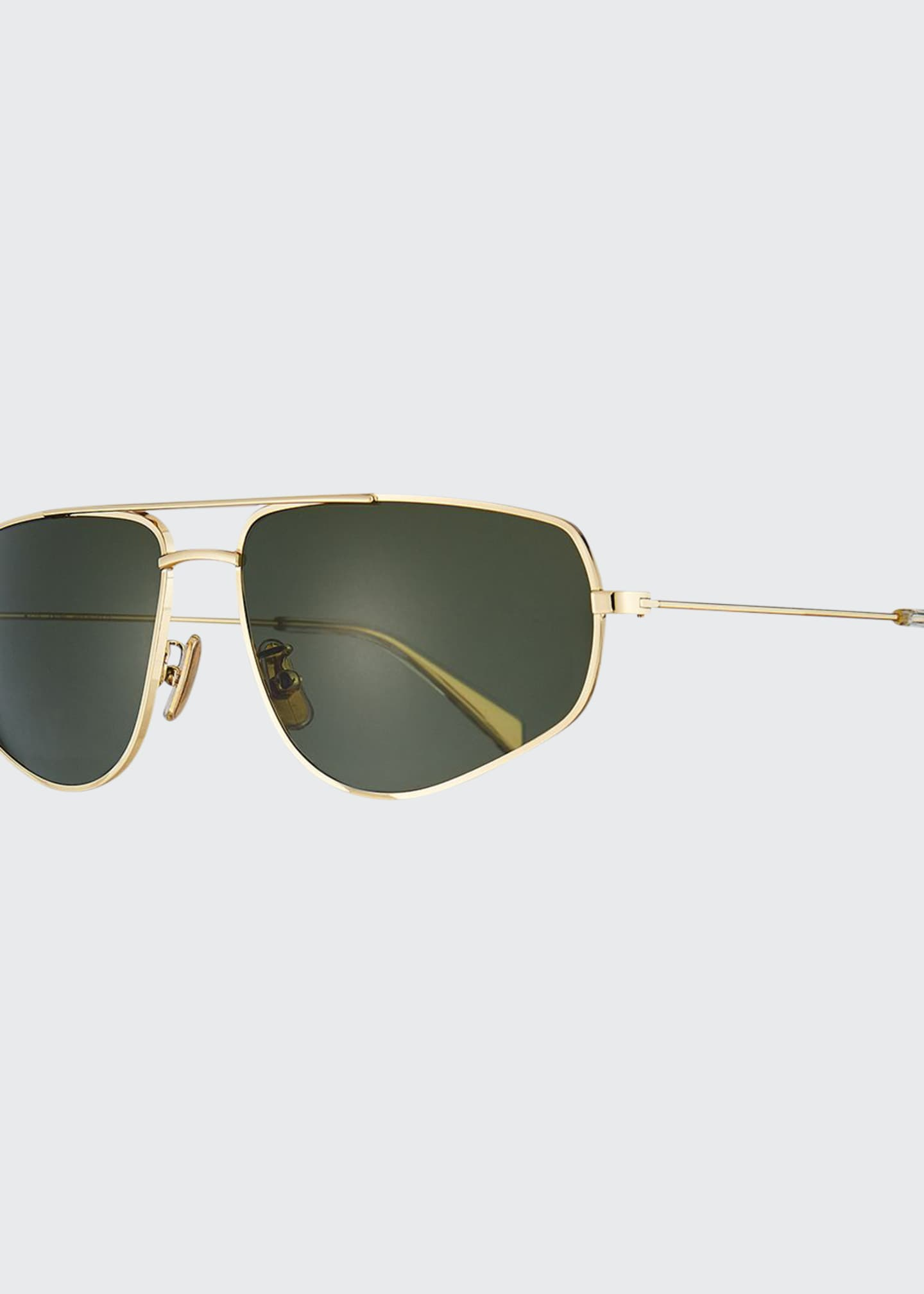 Celine Men's Golden Geometric Rectangle Sunglasses