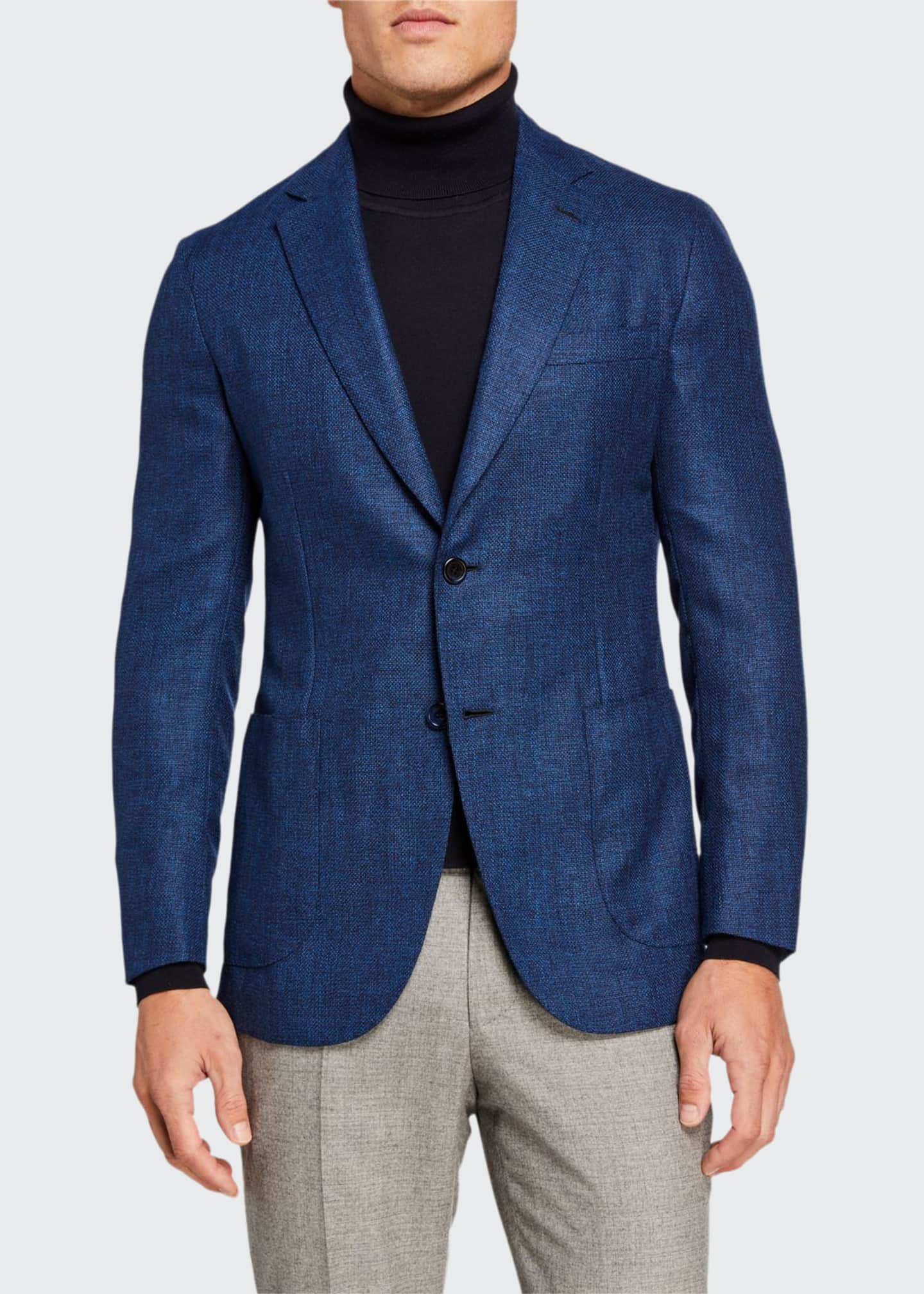 Brioni Men's High-Color Textured Two-Button Jacket