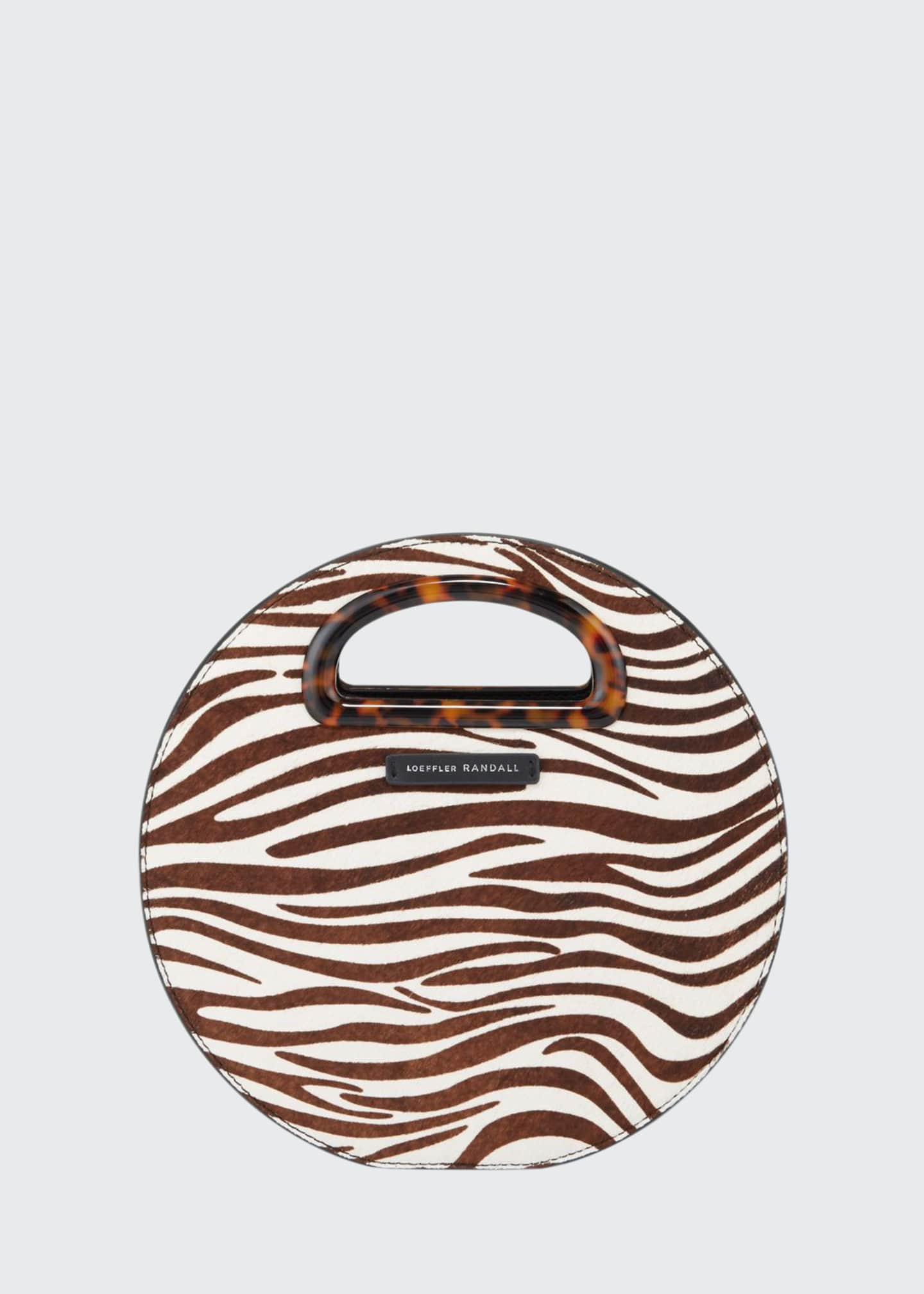 Loeffler Randall Calf Hair Indy Circle Crossbody Bag