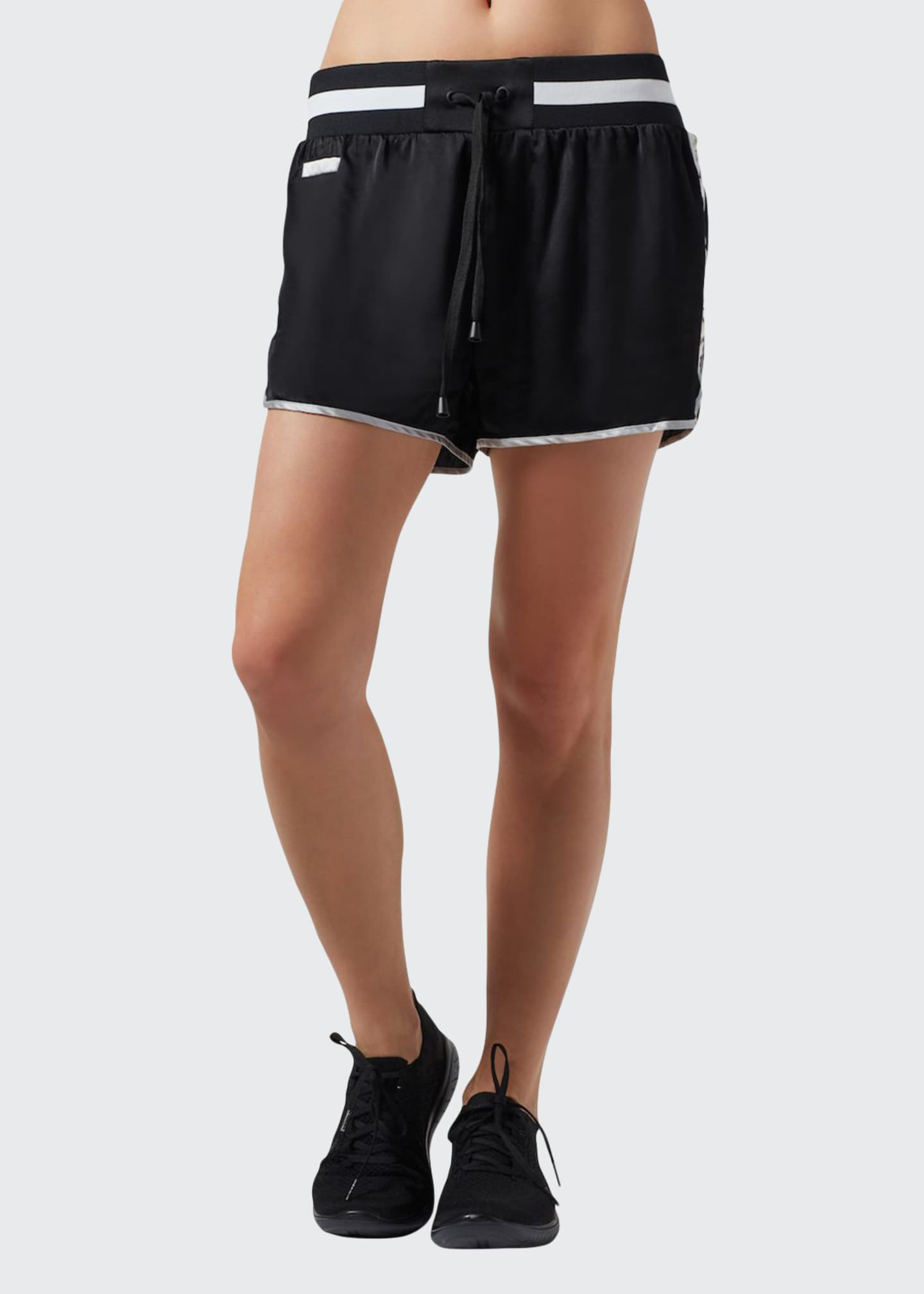 Blanc Noir Sutra Ruched-Side Dolphin Shorts