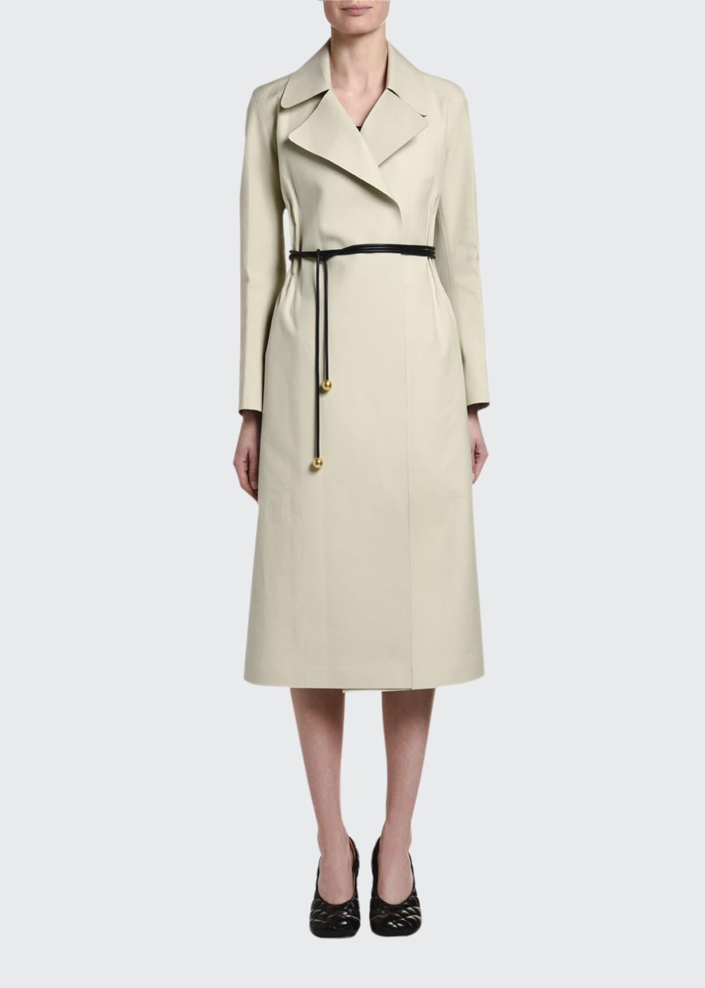 Bottega Veneta Cotton Cinched-Waist Trench Coat