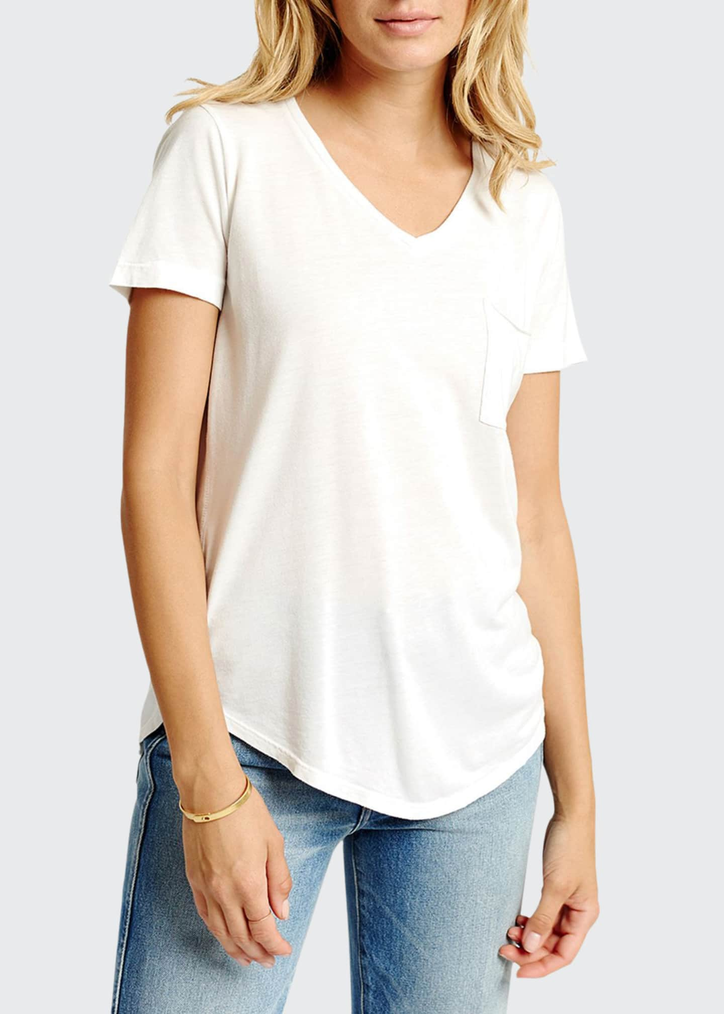 Image 1 of 2: Sol Essential Torque Short-Sleeve V-Neck Tee