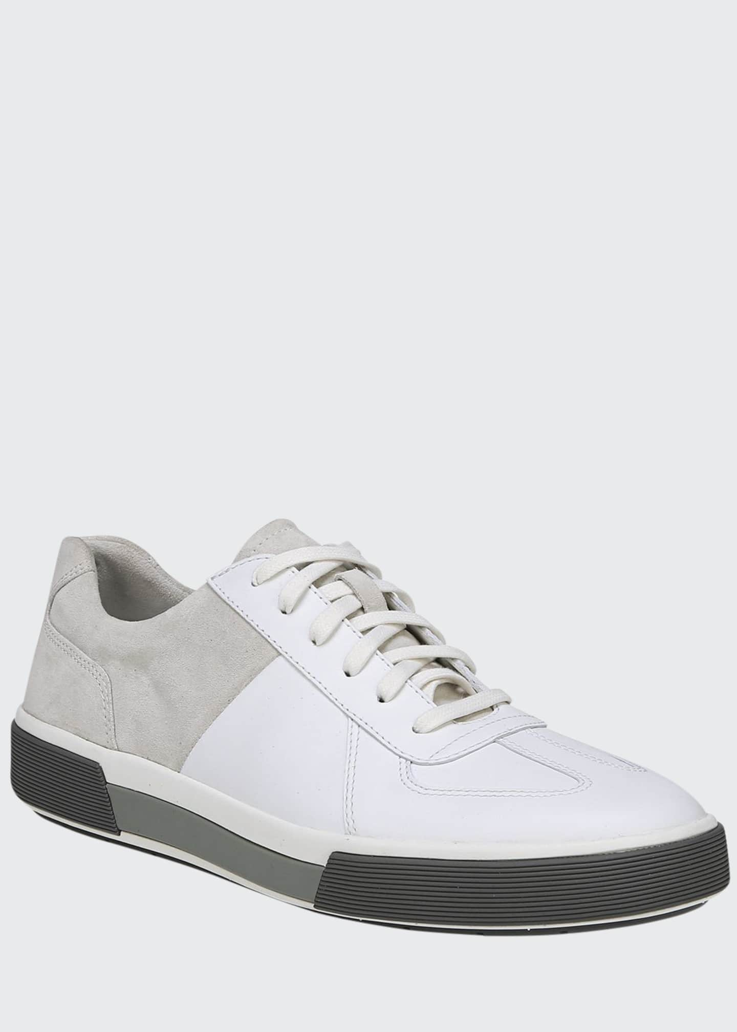 Image 1 of 5: Men's Rogue Suede & Leather Low-Top Sneakers