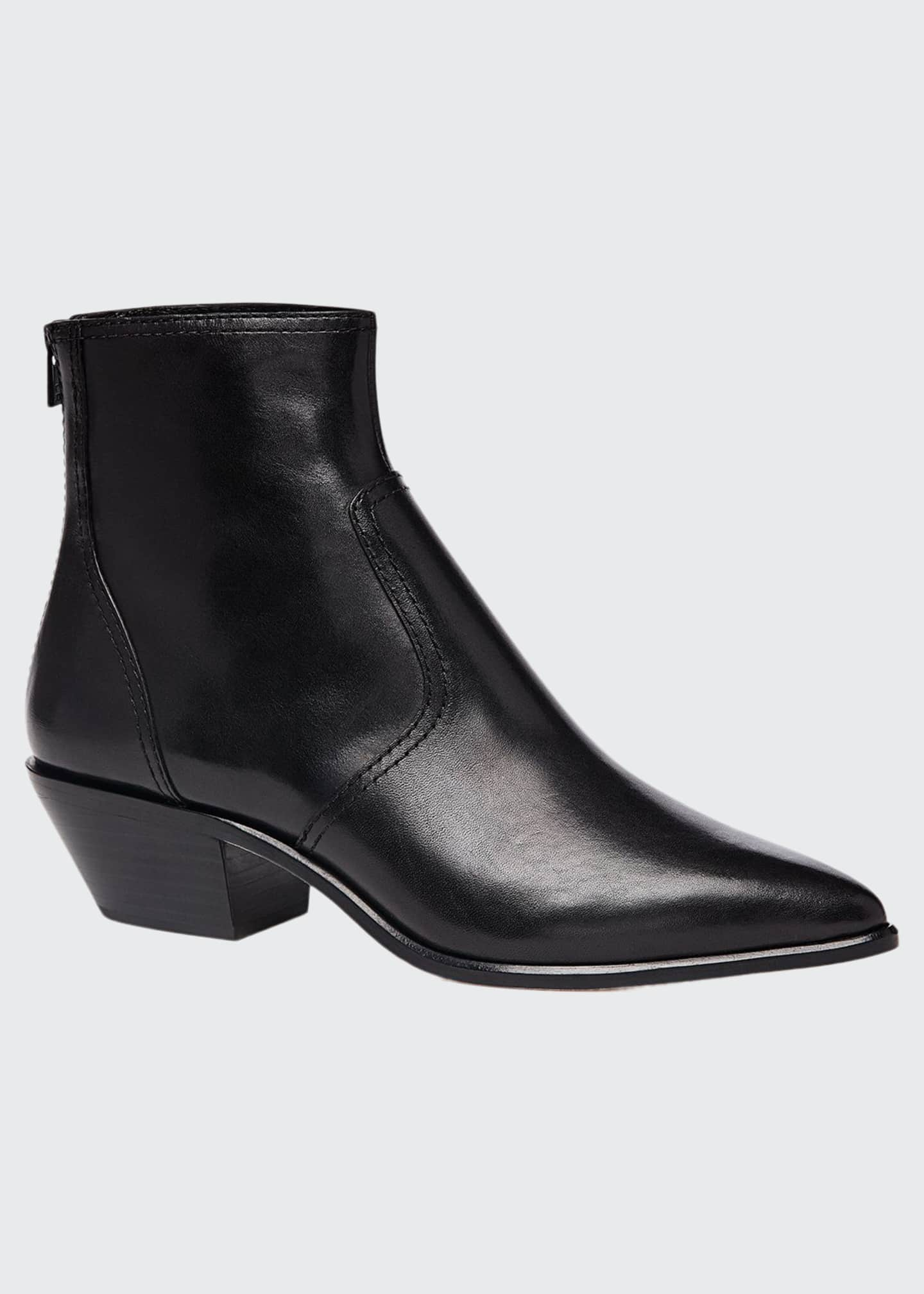 Loeffler Randall Joni Leather Western Booties
