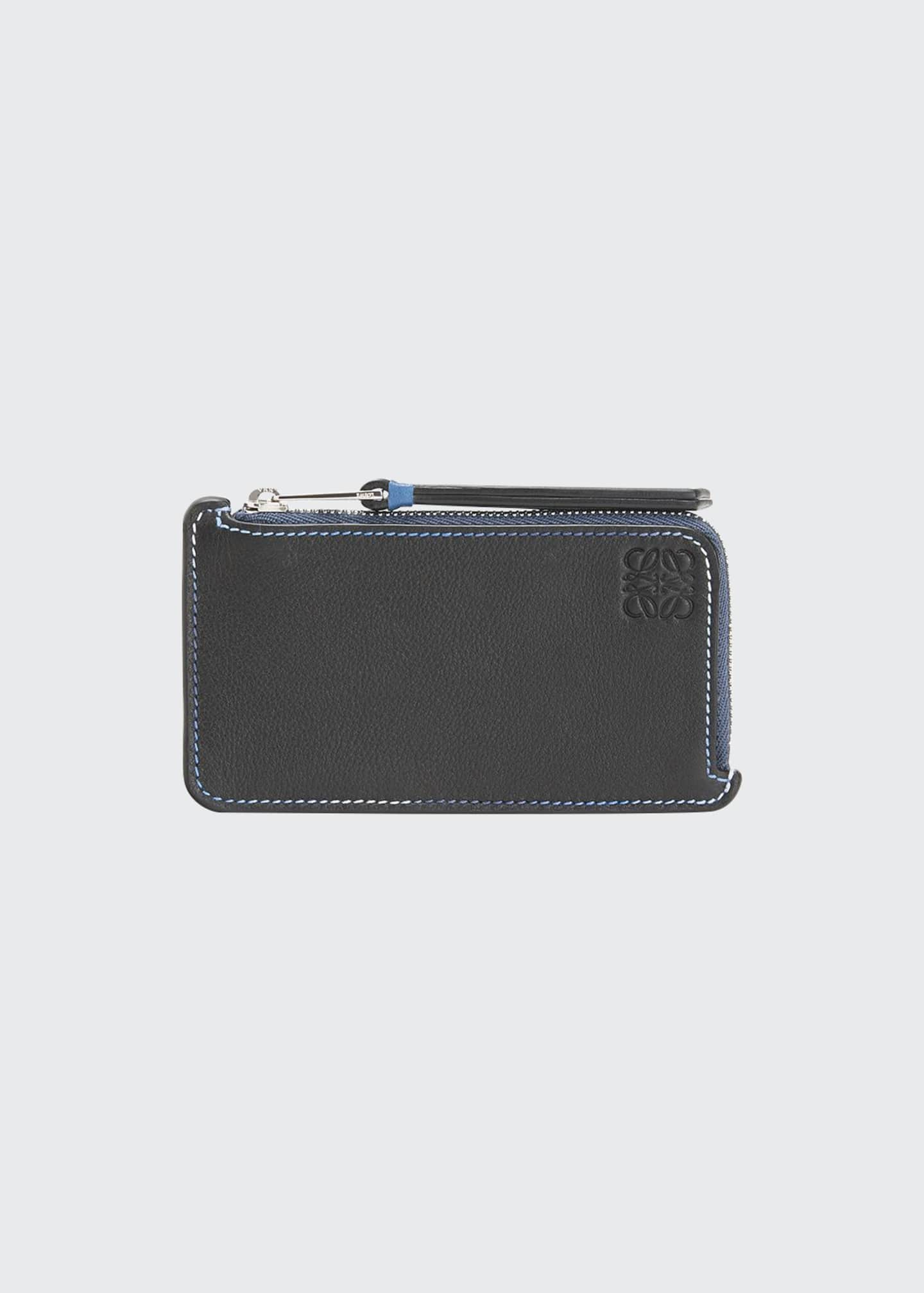 Loewe Men's Rainbow Leather Coin Card Holder