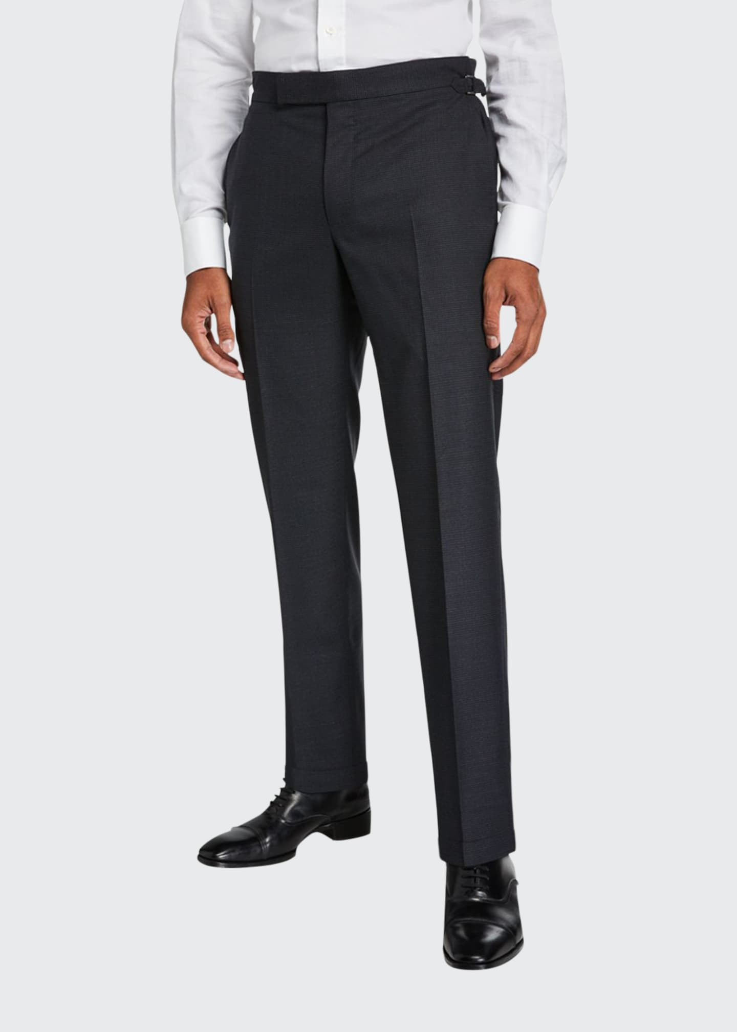 Image 1 of 3: Men's O'Connor Micro-Houndstooth Wool Dress Pants