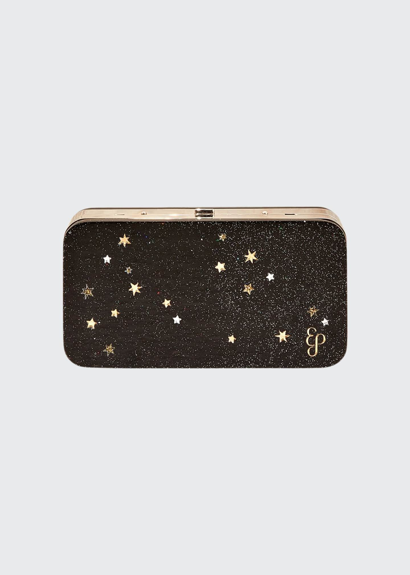 Edie Parker Glittered Acrylic Clutch Bag