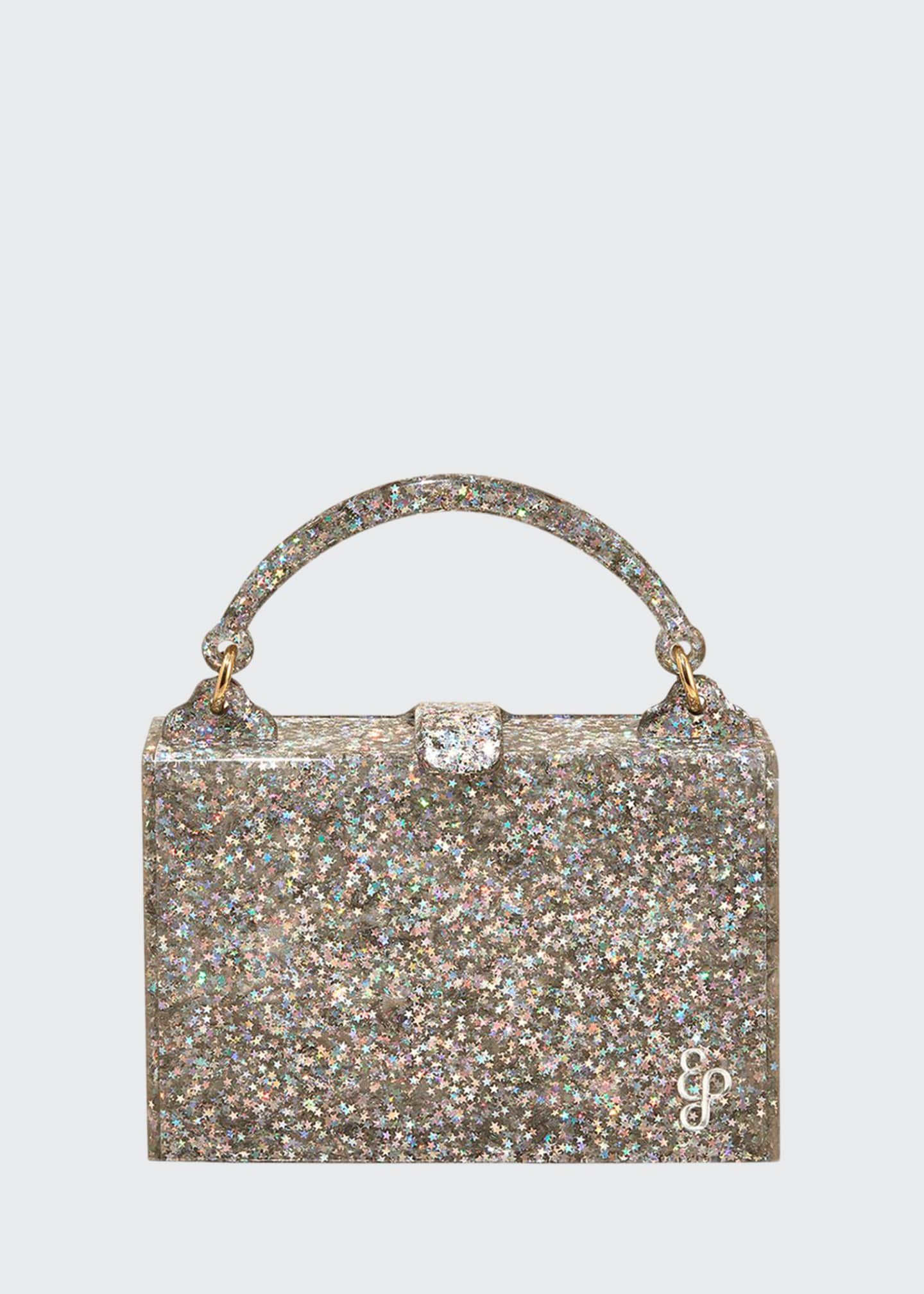 Edie Parker Housewife Glittered Top-Handle Bag