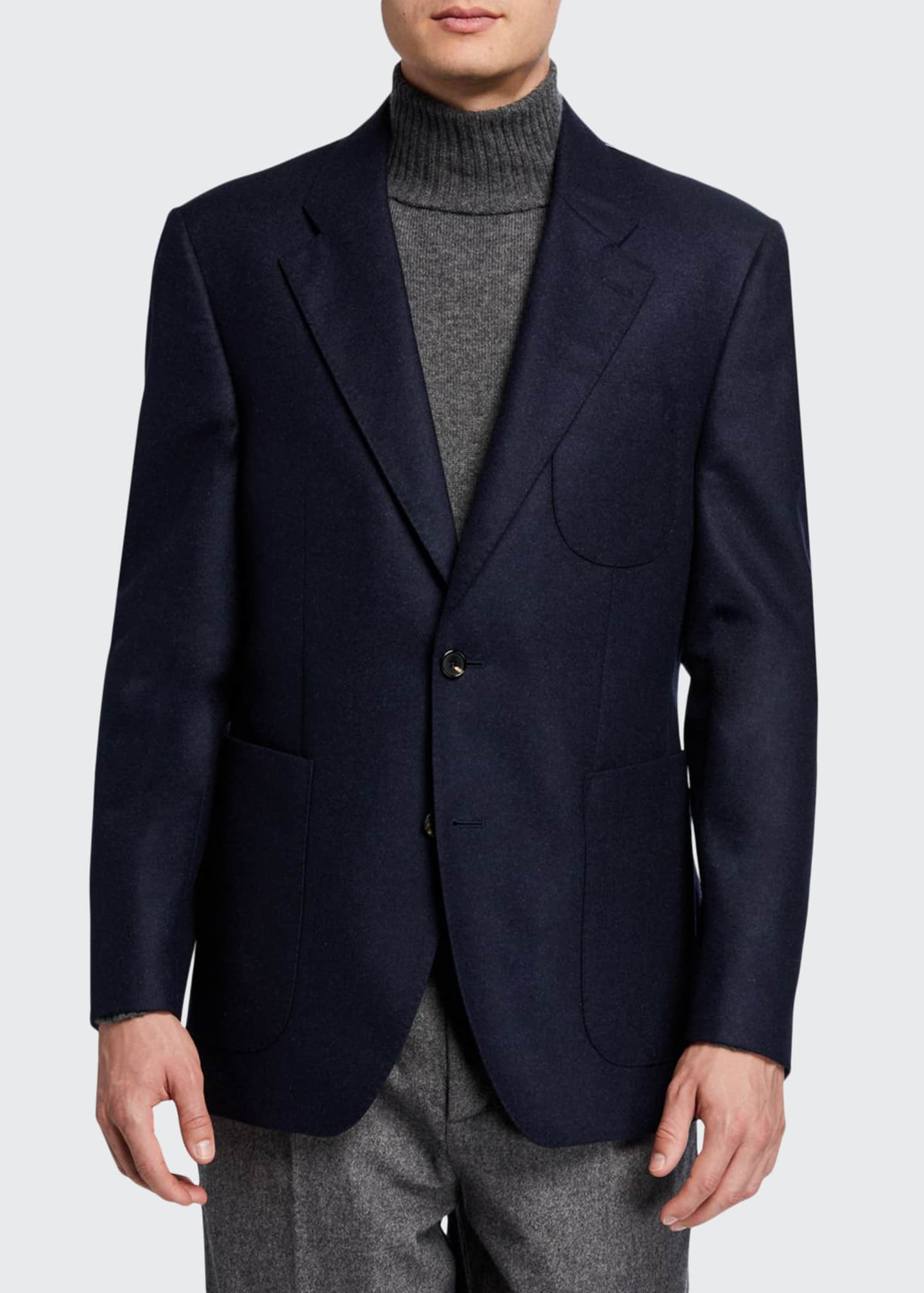 Image 1 of 3: Men's Havre Half-Lined Two-Button Jacket