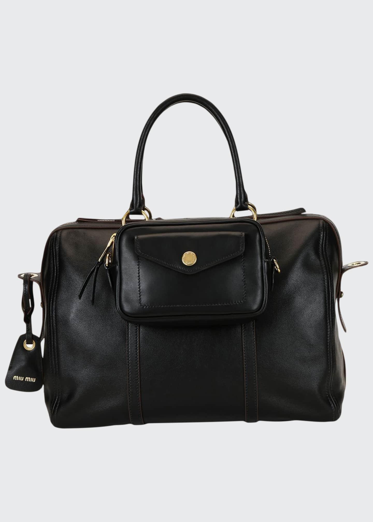 Miu Miu Grace Square Leather Duffle Bag